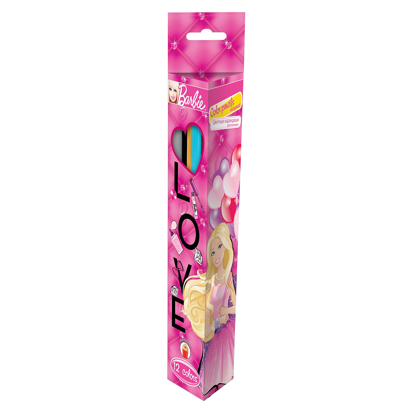 Цветные карандаши (треугольные), 12 шт, BarbieЦветные карандаши (треугольные), 12 шт, Barbie (Барби) изготовлены из высококачественной древесины. Карандаши имеют не совсем привычный треугольный профиль и упакованы в коробку из мелованного картона с картинкой в стиле Барби.<br><br>Рисование способствует развитию мелкой моторики рук, внимания, творческих и художественных способностей ребенка. <br><br>Подарите Вашему ребенку праздник творчества!<br><br>Дополнительная информация:<br><br>- Размер упаковки: 21,5 х 4,5 х 2,5 см<br>- Вес: 150 г.<br><br>Цветные карандаши (треугольные), 12 шт, Barbie (Барби) можно купить в нашем интернет-магазине.<br><br>Ширина мм: 215<br>Глубина мм: 45<br>Высота мм: 25<br>Вес г: 150<br>Возраст от месяцев: 96<br>Возраст до месяцев: 108<br>Пол: Женский<br>Возраст: Детский<br>SKU: 3563152