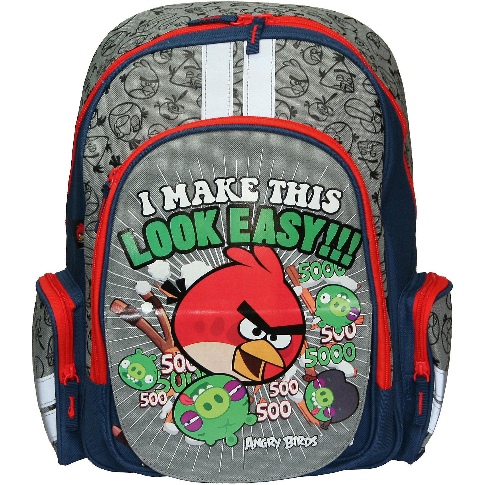 Рюкзак спортивный для путешествий, Angry BirdsДорожные сумки и чемоданы<br>Рюкзак спортивный для путешествий, Angry Birds (Энгри Бердс) — необходимая вещь для активного ребенка. Рюкзак украшен изображением популярных Angry Birds, героев одноименной игры. Рюкзак имеет отличительную особенность — на передней стороне имеется возможность поменять картинку, отогнув верхний слой внешнего кармана. Множество карманов рюкзачка позволят оптимально распределить все необходимые вещи. Оснащен мягкой EVA-спинкой, которая способна принимать форму спины ребенка и сохранять при этом форму конструкции рюкзака неизменной. Этим объясняется долговечность и надежность данной модели.<br><br>Карманы: <br>- вместительный наружный карман на молнии предназначен для предметов средних и крупных размеров, <br>- два боковых кармана на молнии предназначены для предметов мелких размеров.<br>- внутренний карман из сеточной ткани<br><br>Основной отдел на молнии имеет 3 отделения и может размещать изделия размером до А4 формата включительно.<br><br>Порадуйте Вашего  ребенка прекрасным подарком!<br><br>Дополнительная информация:<br><br>- Материал: текстиль, пластик<br>- Размер: 38 х 29 х 13 см<br>- Вес: 735 г.<br><br>Рюкзак спортивный для путешествий, Angry Birds (Злые Птички) можно купить в нашем интернет-магазине.<br><br>Ширина мм: 380<br>Глубина мм: 290<br>Высота мм: 130<br>Вес г: 735<br>Возраст от месяцев: 72<br>Возраст до месяцев: 108<br>Пол: Мужской<br>Возраст: Детский<br>SKU: 3563156