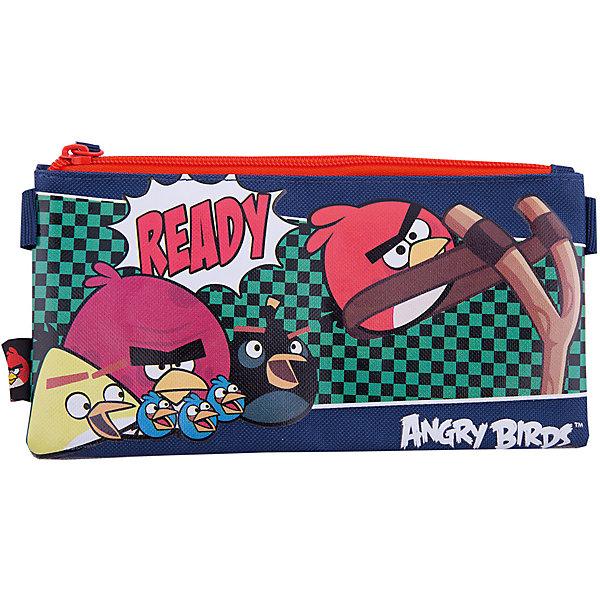 Косметичка, Angry BirdsПеналы без наполнения<br>Косметичка, Angry Birds (Энгри Бердс) очень компактная. Пенал-косметичка понадобится ребенку для организации и сохранения порядка в школьном ранце. Пенал украшен картинкой в стиле популярнейшей во всем мире игры Angry Birds.<br><br>Порадуйте Вашего  ребенка прекрасным подарком!<br><br>Дополнительная информация:<br><br>- Размер: 11,5 х 22 х 1 см<br>- Вес: 40 г.<br><br>Косметичку, Angry Birds (Энгри Бердс) можно купить в нашем интернет-магазине.<br>Ширина мм: 115; Глубина мм: 220; Высота мм: 10; Вес г: 42; Возраст от месяцев: 96; Возраст до месяцев: 108; Пол: Унисекс; Возраст: Детский; SKU: 3563160;