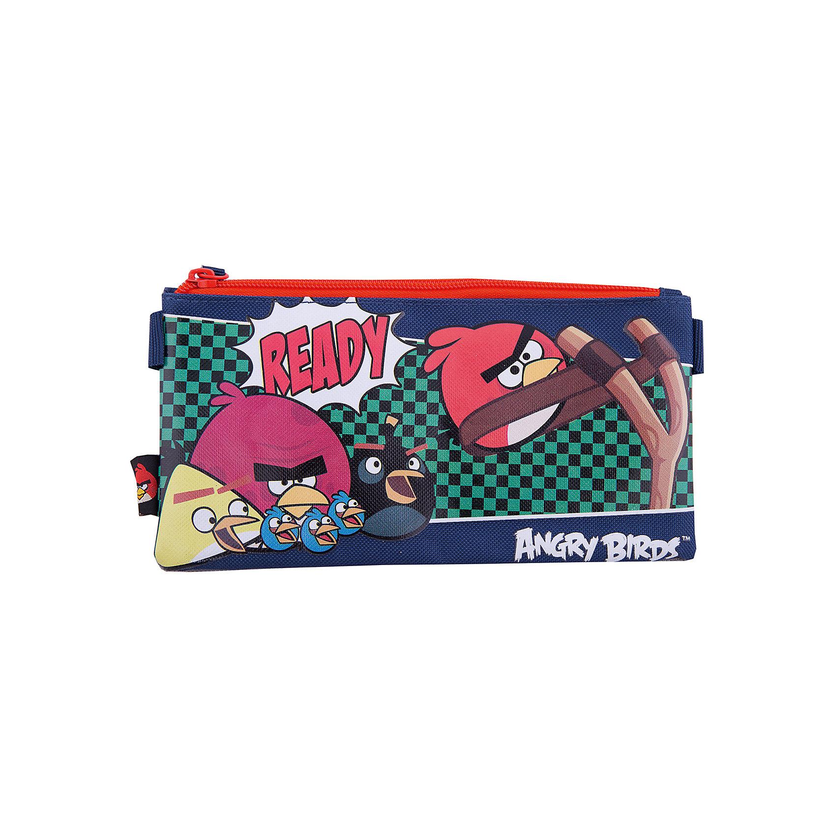 Косметичка, Angry BirdsКосметичка, Angry Birds (Энгри Бердс) очень компактная. Пенал-косметичка понадобится ребенку для организации и сохранения порядка в школьном ранце. Пенал украшен картинкой в стиле популярнейшей во всем мире игры Angry Birds.<br><br>Порадуйте Вашего  ребенка прекрасным подарком!<br><br>Дополнительная информация:<br><br>- Размер: 11,5 х 22 х 1 см<br>- Вес: 40 г.<br><br>Косметичку, Angry Birds (Энгри Бердс) можно купить в нашем интернет-магазине.<br><br>Ширина мм: 115<br>Глубина мм: 220<br>Высота мм: 10<br>Вес г: 42<br>Возраст от месяцев: 96<br>Возраст до месяцев: 108<br>Пол: Унисекс<br>Возраст: Детский<br>SKU: 3563160