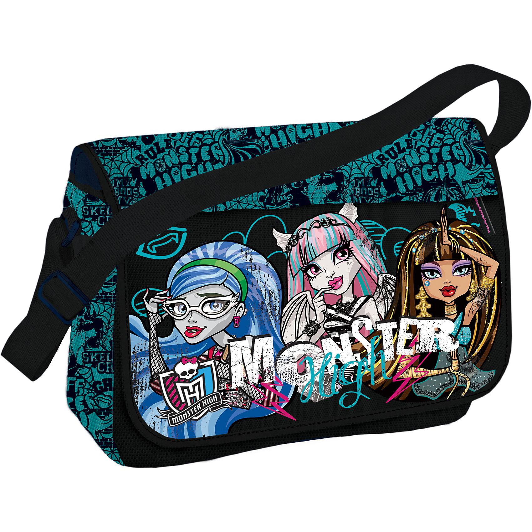 Сумка, Monster HighШкольные сумки<br>Сумка, Monster High (Монстр Хай) – стильный аксессуар для вашей юной модницы.<br>Стильная сумка Monster High несомненно понравится Вашей малышке, выполнена в оригинальном дизайне, в виде принта используется герои из всеми любимого мультфильма Monster High. Сумочка очень вместительная и удобная в использовании, имеет одно большое отделение с внутренними кармашками. Сумка закрывается с помощью клапана на застежку липучка. Плечевой ремень сумки регулируется по длине, что позволяет отрегулировать его под любой рост девочки.<br><br>Дополнительная информация:<br><br>- Материал: полиэстер<br>- Размер: 24х33х12 см.<br><br>Сумку, Monster High (Монстр Хай) можно купить в нашем интернет-магазине.<br><br>Ширина мм: 240<br>Глубина мм: 330<br>Высота мм: 120<br>Вес г: 393<br>Возраст от месяцев: 120<br>Возраст до месяцев: 144<br>Пол: Женский<br>Возраст: Детский<br>SKU: 3563211