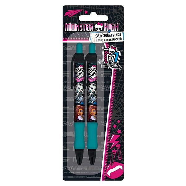 Набор: ручка синяя, карандаш механический, Monster HighMonster High Товары для школы<br>Канцелярский набор Monster High ( Школа Монстров) порадует маленькую школьницу и сделает ее занятия еще увлекательнее. В комплект входят шариковая ручка и механический карандаш. Ручка и карандаш имеют резиновое покрытие в нижней части, что значительно повышает удобство их использования. Увеличенный диаметр ручки и карандаша снижает утомляемость руки ребенка при письме и рисовании. Набор выполнен в оригинальном дизайне, в виде принта используется герои из всеми любимого мультсериала Monster High<br><br>Дополнительная информация:<br><br>- Размер упаковки: 22,5 х 8 х 1,5 см.<br>- Вес: 37 гр.<br><br>Канцелярский набор Monster High можно купить в нашем интернет-магазине.<br><br>Ширина мм: 225<br>Глубина мм: 80<br>Высота мм: 15<br>Вес г: 37<br>Возраст от месяцев: 120<br>Возраст до месяцев: 144<br>Пол: Женский<br>Возраст: Детский<br>SKU: 3563212