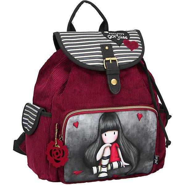 Школьный рюкзак GorjussШкольные рюкзаки<br>Рюкзак, Gorjuss (Горджус) – компактный рюкзак обязательно пригодятся для посещения школы, секций, кружков. <br>Если девочке не нужно брать с собой много вещей, а нужно положить только тетради, ручки и какой-то гаджет, то рюкзак Gorjuss (Горджус) просто создан для вашей дочки. Рюкзак очень вместительный и удобный в использовании. Внутри изделия имеется большое отделение для крупных предметов. В качестве застежки используется металлическая пряжка, прикрепленная к верхнему накладному фартуку. Внутри горлышко рюкзака затягивается шнурками. Лямки регулируются по длине. У рюкзака имеется два боковых кармана застегивающиеся клапанами с липучками, передний карман - на молнии.<br><br>Дополнительная информация:<br><br>- Размер: 33,5х26,5х11 см.<br><br>Рюкзак, Gorjuss (Горджус) можно купить в нашем интернет-магазине.<br>Ширина мм: 110; Глубина мм: 335; Высота мм: 265; Вес г: 1000; Возраст от месяцев: 120; Возраст до месяцев: 144; Пол: Женский; Возраст: Детский; SKU: 3563244;