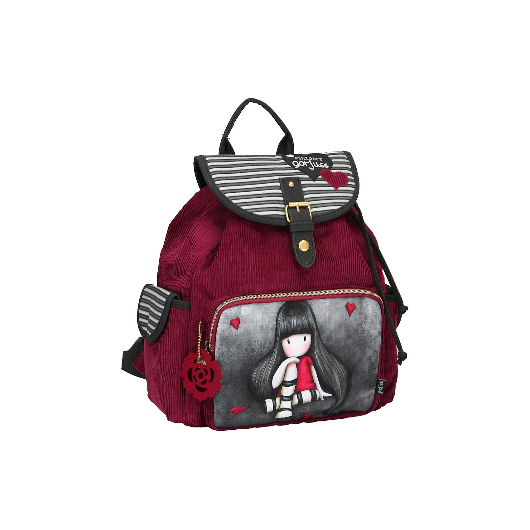 Школьный рюкзак GorjussРюкзак, Gorjuss (Горджус) – компактный рюкзак обязательно пригодятся для посещения школы, секций, кружков. <br>Если девочке не нужно брать с собой много вещей, а нужно положить только тетради, ручки и какой-то гаджет, то рюкзак Gorjuss (Горджус) просто создан для вашей дочки. Рюкзак очень вместительный и удобный в использовании. Внутри изделия имеется большое отделение для крупных предметов. В качестве застежки используется металлическая пряжка, прикрепленная к верхнему накладному фартуку. Внутри горлышко рюкзака затягивается шнурками. Лямки регулируются по длине. У рюкзака имеется два боковых кармана застегивающиеся клапанами с липучками, передний карман - на молнии.<br><br>Дополнительная информация:<br><br>- Размер: 33,5х26,5х11 см.<br><br>Рюкзак, Gorjuss (Горджус) можно купить в нашем интернет-магазине.<br><br>Ширина мм: 110<br>Глубина мм: 335<br>Высота мм: 265<br>Вес г: 1000<br>Возраст от месяцев: 120<br>Возраст до месяцев: 144<br>Пол: Женский<br>Возраст: Детский<br>SKU: 3563244