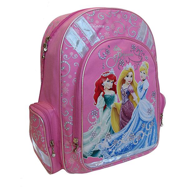 Рюкзак с эргономичной EVA-спинкой, Принцессы ДиснейРюкзаки<br>Рюкзак с эргономичной EVA-спинкой, Disney Princess (Принцессы Диснея) - это максимально удобный и функциональный рюкзак.<br>Спинка рюкзака Disney Princess сделана из высокотехнологичного водонепроницаемого упругого материала (EVA), анатомически расположенные поролоновые вставки и специальная сетка для воздухообмена обеспечивают максимальный комфорт. Увеличенная ширина лямок позволяет снизить нагрузку на надплечье. Регулируемая длина гарантирует, что рюкзак подойдет ребенку любого роста. Высокотехнологичный водонепроницаемый упругий материал, поролон и специальная сетка для воздухообмена обеспечивают максимальный комфорт. Удобная ручка позволяет переносить рюкзак в руках. Светоотражающие элементы на лямках и корпусе рюкзака делают ребенка более заметным для водителей, и повышают безопасность ребенка на дороге. Карманы: вместительный наружный карман на молнии предназначен для предметов средних и крупных размеров, два боковых кармана на молнии предназначены для предметов мелких размеров. Основной отдел на молнии имеет 3 отделения и может размещать изделия размером до А4 формата включительно, без сложений. Дно укреплено пластиковой вставкой-трансформером, что позволяет быстро и удобно изменять размеры рюкзака. Изготовлен рюкзак из износостойкого и влагоизоляционного материала.<br><br>Дополнительная информация:<br><br>- Материал: полиэстер<br>- Размер: 38х29х13 см.<br>- Вес: 735 гр.<br><br>Рюкзак с эргономичной EVA-спинкой, Disney Princess можно купить в нашем интернет-магазине.<br><br>Ширина мм: 380<br>Глубина мм: 290<br>Высота мм: 130<br>Вес г: 735<br>Возраст от месяцев: 72<br>Возраст до месяцев: 84<br>Пол: Женский<br>Возраст: Детский<br>SKU: 3563275