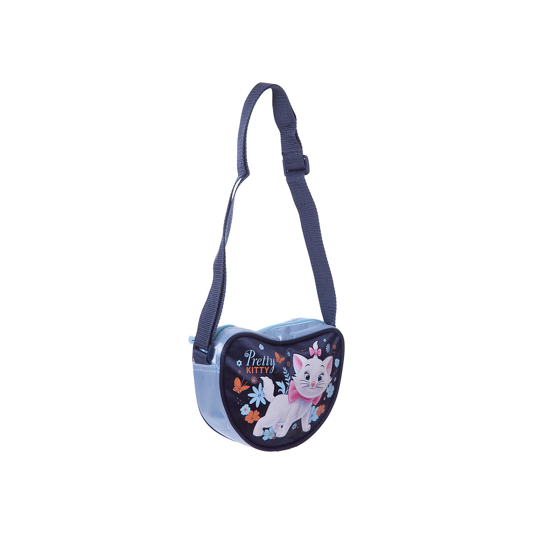 Сумка-сердечко Кошка Мари, Коты-АристократыСумка Cat (кошка Мари) в форме сердечка замечательный вариант для длительных прогулок а также стильный аксессуар для маленькой модницы. Симпатичная сумочка несмотря на свои небольшие габариты, вместит все самое необходимое. Сумочка носится через плечо, лямка регулируется, застежка на молнии. Лицевая сторона украшена изображением очаровательной белой кошечки Мери, героини диснеевского мультфильма  Коты Аристократы.<br><br>Дополнительная информация:<br><br>- Материал: полиэстер.<br>- Размер: 13 x 18 x 5 см.<br>- Вес: 100 гр.<br><br>Сумку Marie Cat можно купить в нашем интернет-магазине.<br><br>Ширина мм: 130<br>Глубина мм: 180<br>Высота мм: 50<br>Вес г: 158<br>Возраст от месяцев: 96<br>Возраст до месяцев: 108<br>Пол: Женский<br>Возраст: Детский<br>SKU: 3563276
