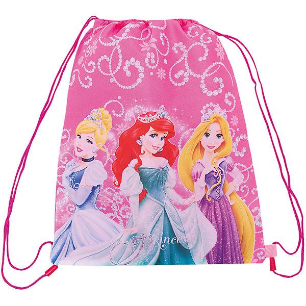Сумка-рюкзак для обуви, Принцессы ДиснейПринцессы Дисней<br>Сумка-рюкзак для обуви, Disney Princess (Принцессы Диснея) – бережно сохранит сменную обувь вашего ребенка от грязи и воды.<br>Если ваш ребенок все время забывает взять с собой на занятия сменную обувь или же упорно не хочет этого делать, приобретите для него сумку-рюкзак для обуви, Disney Princess. Такое изделие сразу же решит возникшую проблему, ведь это не простой и скучный пакет, а собственная аккуратная сумочка. Теперь ребенок ни за что не забудет свою обувь дома и с радостью отправится на занятия в школу или в секцию. Небольшая сумка-рюкзак для обуви с дополнительным карманом очень удобная, затягивается по бокам специальными шнурками, которые используются в качестве лямок, имеет одно отделение. Ее можно носить на спине как рюкзак. В сложенном виде занимает мало места. Изготовлена сумка-рюкзак из плотной ткани.<br><br>Дополнительная информация:<br><br>- Материал: износоустойчивый полиэстер<br>- Размер: 43х34 см.<br><br>Сумку-рюкзак для обуви, Disney Princess (Принцессы Диснея) можно купить в нашем интернет-магазине.<br>Ширина мм: 350; Глубина мм: 350; Высота мм: 20; Вес г: 500; Возраст от месяцев: 48; Возраст до месяцев: 84; Пол: Женский; Возраст: Детский; SKU: 3563280;