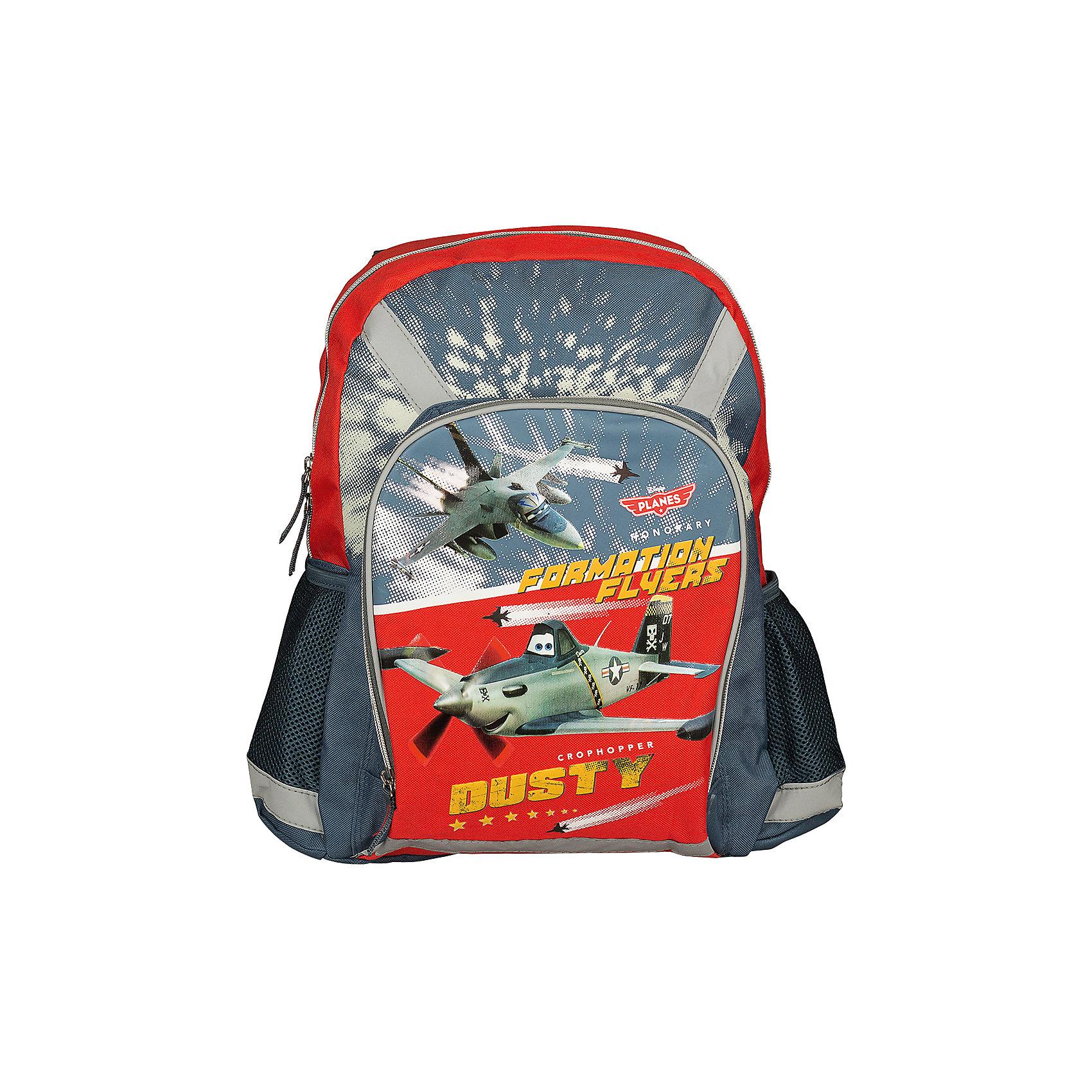 Школьный рюкзак с мягкой спинкой, СамолетыСамолеты<br>Рюкзак, мягкая спинка, Самолеты – прекрасный подарок вашему ребенку, фанату анимационного фильма Planes (Самолеты).<br>В такой рюкзачок поместятся книги, тетради, предметы школьной канцелярии, а также разные мелочи для личного пользования. Изюминкой этой модели является оригинальный принт, выполненный по мотивам анимационного фильма Planes (Самолеты). Спинка рюкзака, обтянута «дышащей» сетчатой тканью, которая выступает в роли вентиляционной системы. Она обеспечивает хорошую проницаемость и циркуляцию воздуха между задней стенкой и спиной ребенка. Лямки регулируются в зависимости от роста ребенка. Сверху у рюкзака есть удобная ручка для переноски. Рюкзак имеет основное отделение, закрывающееся на застежку молнию, большой внешний карман на молнии, два боковых сетчатых кармашка. Рюкзак изготовлен из прочного материала, устойчивого к влаге и грязи.<br><br>Дополнительная информация:<br><br>- Вес: 579 гр.<br>- Размер: 40х30х13 см.<br>- Материал: полиэстер<br><br>Рюкзак, мягкая спинка, Самолеты - теперь ваш ребенок не забудет взять с собой письменные принадлежности и тетради!<br><br>Рюкзак, мягкая спинка, Самолеты можно купить в нашем интернет-магазине.<br><br>Ширина мм: 400<br>Глубина мм: 300<br>Высота мм: 130<br>Вес г: 579<br>Возраст от месяцев: 48<br>Возраст до месяцев: 84<br>Пол: Мужской<br>Возраст: Детский<br>SKU: 3563284