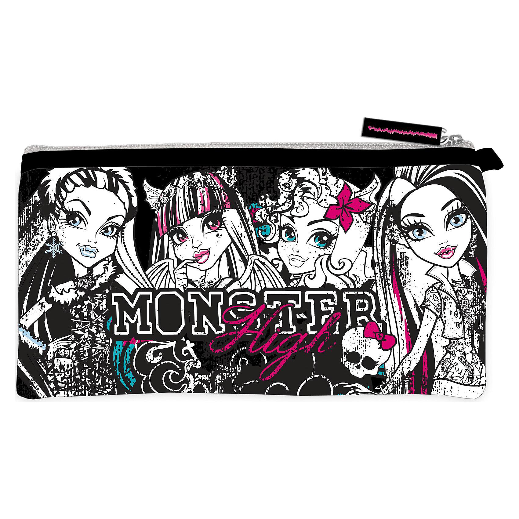 Пенал неопреновый широкий, Monster High