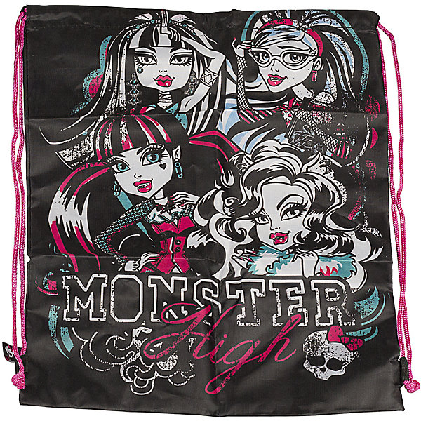 Сумка-рюкзак для обуви, Monster HighМешки для обуви<br>Забудьте о неудобных пакетах для сменной или спортивной обуви! Незаменимый аксессуар для школьника: Сумка-рюкзак для обуви,  Monster High ( Монстер Хай)! Сумка для обуви с дополнительным карманом черная Monster High ( Монстер Хай) - это стильный аксессуар современного школьника. Ваша девочка наверняка захочет положить в этот небольшой мешочек-рюкзак свои кроссовки или кеды. <br><br>Дополнительная информация: <br><br>- Сумка для обуви черная  Monster High ( Монстер Хай) выполнена в стиле мультфильма Школа Монстров;<br>- Сумка затягивается на шнурок, который используется в качестве лямок;<br>- Мешок для обуви сделан из плотного материала;<br>- Размер: 43 х 34 см;<br>- Материал: полиэстер;<br>- Вес: 71 г.<br><br>Сумку-рюкзак для обуви Monster High ( Монстер Хай) можно купить в нашем интернет-магазине.<br>Ширина мм: 20; Глубина мм: 400; Высота мм: 340; Вес г: 710; Возраст от месяцев: 120; Возраст до месяцев: 144; Пол: Женский; Возраст: Детский; SKU: 3563320;