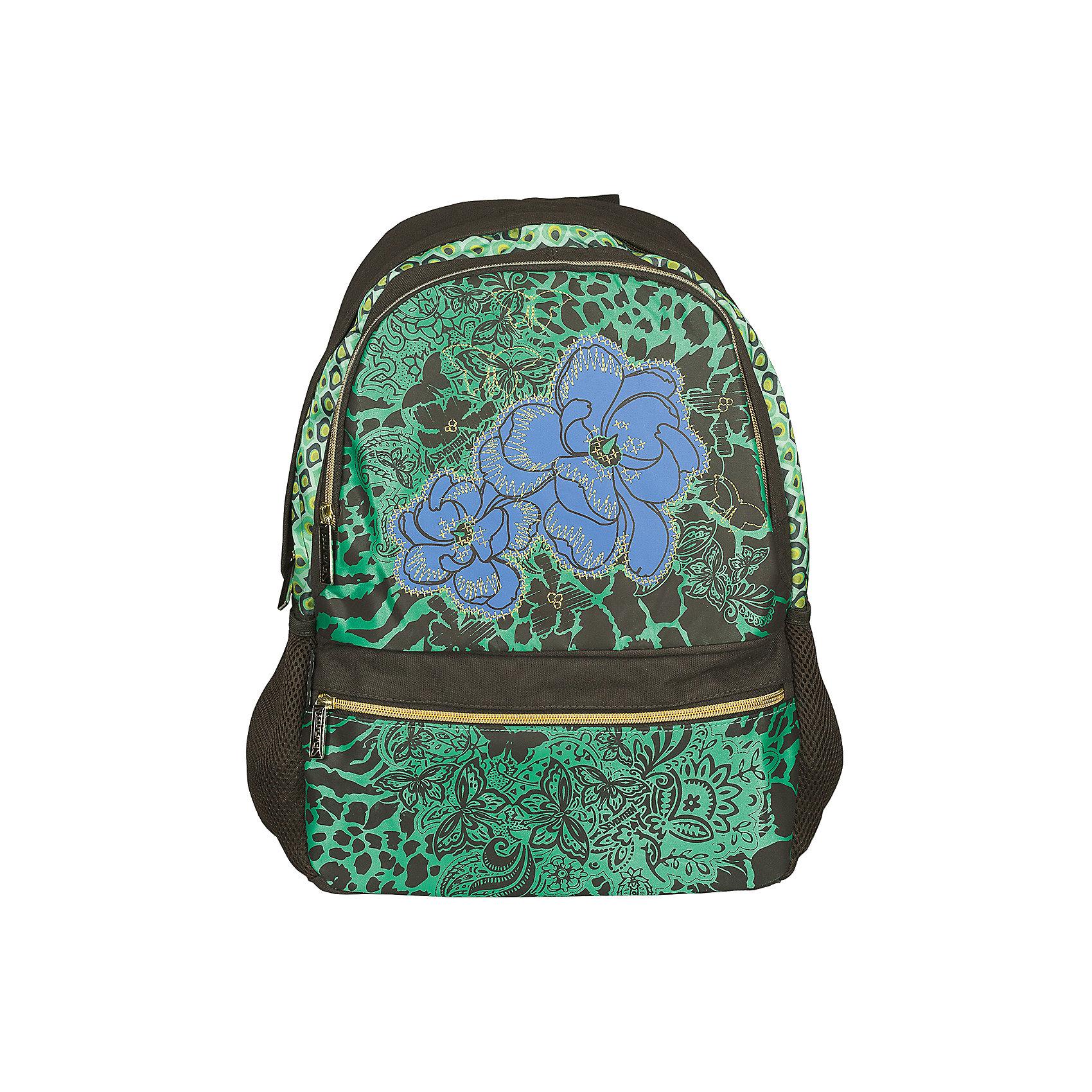 Школьный рюкзак, SeventeenПодобрать рюкзак для старшеклассницы бывает непросто: современные школьницы внимательно следят за модой и отдают предпочтение только стильным аксессуарам. Рюкзак Seventeen станет идеальным решением проблемы! Необычный принт сразу выделяет рюкзак на фоне стандартных моделей. Рюкзак вместительный, при этом очень компактный: у него нет боковых карманов, как в детских ранцах, однако для мелочей имеются два удобных внешних кармана на молнии. В нем без труда можно разместить все школьные принадлежности. Органайзер внутри рюкзака поможет удобно разместить все важные мелочи: ручку, проездной и мобильный телефон. Рюкзак изготовлен из прочного полиэстера, устойчивого к износу и выгоранию. Уплотненная спинка и регулируемые по длине лямки обеспечивают плотное прилегание рюкзака и максимальный комфорт для школьницы.<br><br>Дополнительная информация:<br><br>- Стильный дизайн идеален для подростков;<br>- Уплотненный материал дна;<br>- Легкий и компактный;<br>- Рюкзак закрывается на молнию;<br>- Два наружных вместительных кармана на молнии;<br>- Регулируемые мягкие лямки, ручка для переноски;<br>- Размер: 30,5 х 42 х 15 см;<br>- Цвет: Зеленый;<br>- Материал: полиэстер;<br>- Вес: 0,74 кг.<br><br>Рюкзак, Seventeen можно купить в нашем интернет-магазине.<br><br>Ширина мм: 420<br>Глубина мм: 305<br>Высота мм: 150<br>Вес г: 900<br>Возраст от месяцев: 144<br>Возраст до месяцев: 144<br>Пол: Женский<br>Возраст: Детский<br>SKU: 3563325