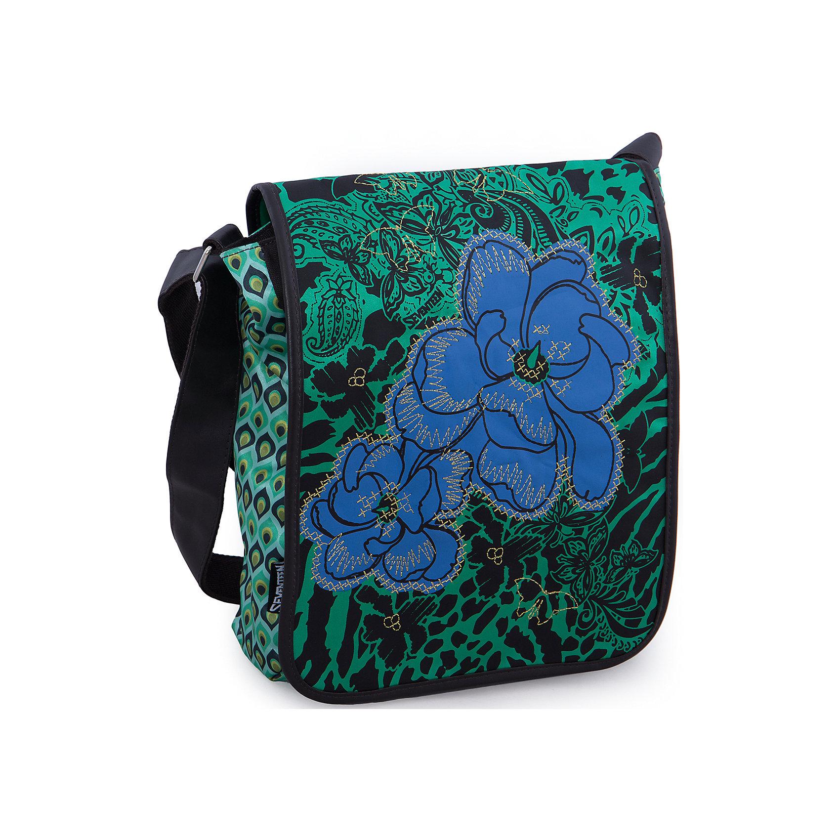 Сумка, SeventeenШкольные сумки<br>Подобрать сумку для старшеклассницы бывает непросто: современные школьницы внимательно следят за модой и отдают предпочтение стильным вещам. Чтобы дочка постоянно не одолжала Вашу сумку, подарите ей стильную новинку от Seventeen. Бренда, который за дизайн и удобство полюбили и школьники и студенты! Яркая сумка с уникальной расцветкой из прочного текстиля застегивается на надежную молнию. Помимо вместительного основного отделения в сумке имеются карманы для важных мелочей. Сумка из текстиля почти невесомая, что особенно важно для современных школьников, в прямом смысле слова загруженных учебниками и тетрадями.<br><br>Дополнительная информация:<br><br>- Стильный дизайн идеален для подростков;<br>- Легкая и компактная;<br>- Регулируемый по длине плечевой ремень позволяет носить сумку как на плече, так и через плечо;<br>- Сумка надежно закрывается на молнию;<br>- Размер: 33 х 26 х 9 см;<br>- Цвет: Зеленый;<br>- Материал: полиэстер;<br>- Вес: 0,4 кг.<br><br>Сумку, Seventeen можно купить в нашем интернет-магазине.<br><br>Ширина мм: 330<br>Глубина мм: 260<br>Высота мм: 90<br>Вес г: 500<br>Возраст от месяцев: 144<br>Возраст до месяцев: 144<br>Пол: Женский<br>Возраст: Детский<br>SKU: 3563328