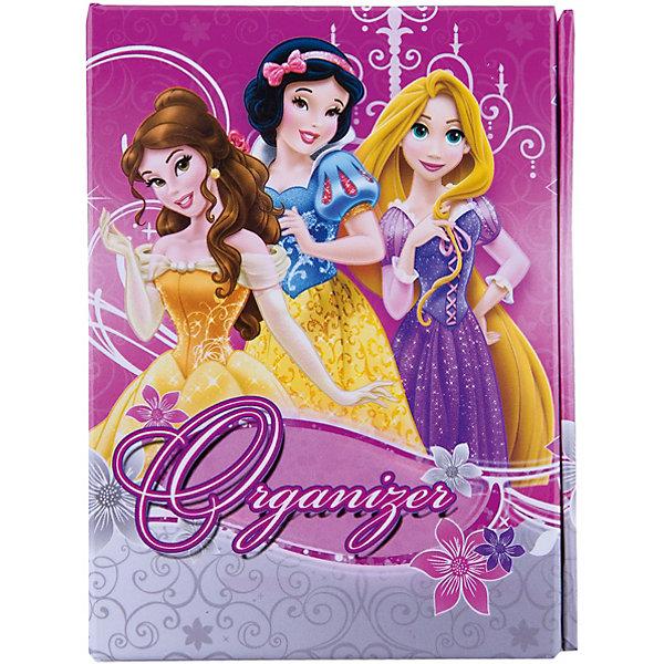 Органайзер складной: ноутбук, адресная книга, дневник, Принцессы ДиснейБумажная продукция<br>Складной органайзер Disney Princess (Принцессы Диснея) порадует всех юных поклонниц диснеевских сказок. Этот оригинальный органайзер состоит из ноутбука, адресной книги и дневника. Обложка декорирована изображениями принцесс из диснеевских мультфильмов.<br><br>Дополнительная информация:<br><br>- Размер: 8,5 х 11 см.  <br>- Вес: 118 гр. <br><br>Органайзер складной Disney Princess можно купить в нашем интернет-магазине.<br><br>Ширина мм: 85<br>Глубина мм: 110<br>Высота мм: 20<br>Вес г: 118<br>Возраст от месяцев: 48<br>Возраст до месяцев: 84<br>Пол: Женский<br>Возраст: Детский<br>SKU: 3563341