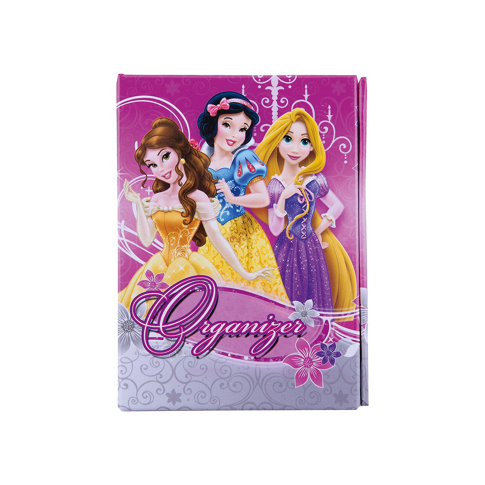 Органайзер складной: ноутбук, адресная книга, дневник, Принцессы ДиснейСкладной органайзер Disney Princess (Принцессы Диснея) порадует всех юных поклонниц диснеевских сказок. Этот оригинальный органайзер состоит из ноутбука, адресной книги и дневника. Обложка декорирована изображениями принцесс из диснеевских мультфильмов.<br><br>Дополнительная информация:<br><br>- Размер: 8,5 х 11 см.  <br>- Вес: 118 гр. <br><br>Органайзер складной Disney Princess можно купить в нашем интернет-магазине.<br><br>Ширина мм: 85<br>Глубина мм: 110<br>Высота мм: 20<br>Вес г: 118<br>Возраст от месяцев: 48<br>Возраст до месяцев: 84<br>Пол: Женский<br>Возраст: Детский<br>SKU: 3563341