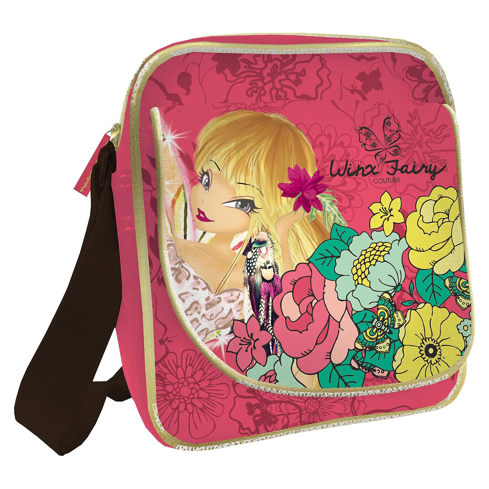 Сумка на плечо, Winx ClubШкольные сумки<br>Сумка на плечо Winx Club (Винкс) - это тот аксессуар современной школьницы, который поможет девочке подчеркнуть свою индивидуальность и выделиться среди сверстниц. Сумка непременно понравится юным модницам! Маленькую и компактную сумочку удобно использовать во время путешествий и прогулок. Яркая сумка с уникальной расцветкой из прочного текстиля отлично держит форму, украшена декоративной отстрочкой и  застегивается на надежную молнию. В сумочке удобное основное отделение и красивый наружный карман. Карман застегивается на клапан с изображением фей Winx Club (Винкс). Сумка из текстиля почти невесомая, но вместительная, благодаря удобному наплечному ремню с регулировкой длины подойдет для девочек любого роста.<br><br>Дополнительная информация:<br><br>- Дизайн сумки выдержан в стиле мультфильма о красавицах  Winx (Винкс);<br>- Внутри есть большое отделение для вещей;<br>- Спереди имеется дополнительный карман;<br>- Для комфортного использования у сумки есть длинная регулируемая ручка;<br>- Яркий дизайн идеален для девочек;<br>- Легкая и компактная;<br>- Регулируемый по длине плечевой ремень позволяет носить сумку как на плече, так и через плечо;<br>- Сумка надежно закрывается на молнию;<br>- Размер: 23 х 19,5 х 5 см;<br>- Материал: полиэстер;<br>- Вес: 320 г.<br><br>Сумку на плечо, Winx Club (Винкс) можно купить в нашем интернет-магазине.<br><br>Ширина мм: 350<br>Глубина мм: 350<br>Высота мм: 200<br>Вес г: 500<br>Возраст от месяцев: 96<br>Возраст до месяцев: 108<br>Пол: Женский<br>Возраст: Детский<br>SKU: 3563358