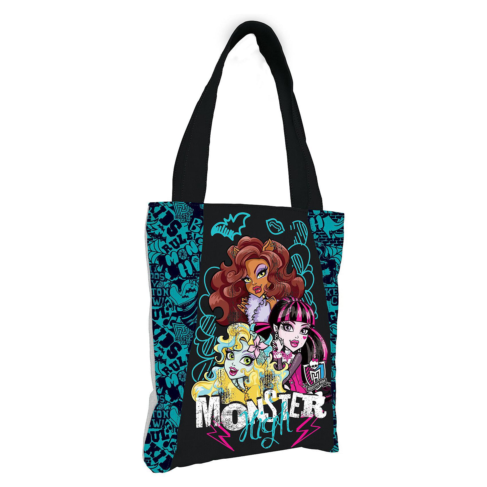 Сумка, Monster HighMonster High<br>Сумка  Monster High (Монстер Хай) - это выбор стильных девчонок! Удобная сумочка с одним отделением на длинных ручках обязательно понравится Вашей дочке-подростку, ведь в ее дизайне ничто не напоминает детскую вещь. Оригинальность изделию придает сочетание черного цвета с контрастными элементами декора. Сумка очень легкая и вместительная, ее удобно носить на плече. <br><br>Дополнительная информация:<br><br>- Сумка Monster High (Монстер Хай) предназначена для девочек-школьниц;<br>- Эта модель подходит для использования в различных сферах жизни: для секций или прогулок;<br>- Габариты изделия позволяют складывать в сумку как различные мелочи, так и габаритные вещи типа тетрадей или альбомов;<br>- В качестве дополнительного элемента декора используется изображение героинь мультсериала Monster High (Монстер Хай);<br>- Длинные ручки позволяют вешать сумку на плечо;<br>- Яркий дизайн идеален для девочек;<br>- Легкая и компактная;<br>- Размер: 28 х 34 х 6 см;<br>- Материал: полиэстер;<br>- Вес: 275 г.<br><br>Сумку, Monster High (Монстер Хай) можно купить в нашем интернет-магазине.<br><br>Ширина мм: 350<br>Глубина мм: 350<br>Высота мм: 200<br>Вес г: 500<br>Возраст от месяцев: 120<br>Возраст до месяцев: 144<br>Пол: Женский<br>Возраст: Детский<br>SKU: 3563368