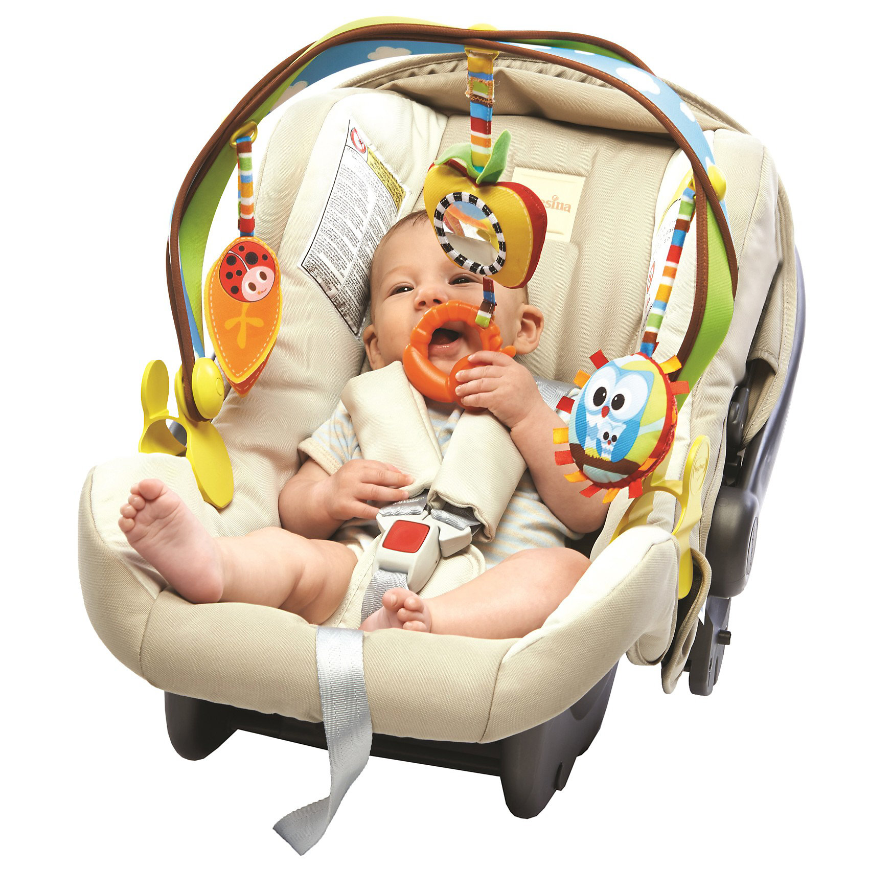 Дуга с подвесками Радуга, Tiny LoveДуга с подвесками Радуга, Tiny Love - это отличная игрушка для поездок, легко складывается, упаковывается и развлекает ребенка в пути.<br>Дуга с подвесками Радуга, Tiny Love привлечет внимание вашего малыша и заставит его улыбаться. Дуга плотно крепится на коляску или автокресло с помощью удобных пластиковых клипс с регулировкой ширины зажима. Универсальное крепление подходит для большинства колясок и переносок. 3 мягкие симпатичные игрушки подвешиваются к дуге за мягкие петли, на высоту, удобную для малыша. Гибкая арка позволяет легко наклонить игрушку к ребенку. Игрушки крепятся к дуге с помощью вибрирующих лент и весело раскачиваются при поездке. Разные на ощупь материалы игрушки (мягкие, шуршащие) способствуют развитию тактильных ощущений у малышей. Яркие цвета привлекут внимание ребенка. В процессе игры у ребенка развивается наблюдательность и умение фокусировать взгляд на предметах, закрепляется навык хватать и удерживать в руках предметы. Дуга с подвесками Радуга изготовлена из экологически чистых материалов, использованы исключительно безопасные вещества для окрашивания.<br><br>Дополнительная информация:<br><br>- В комплекте: прорезыватель, безопасное зеркальце, шуршащий листик, игрушка с изображением совы<br>- Возраст: от 0 мес. (с рождения)<br>- Размер дуги: 48 х 30 х 7 см.<br>- Размер упаковки: 50 х 31 х 7 см.<br>- Вес: 0,6 кг.<br><br>Дугу с подвесками Радуга, Tiny Love (Тини Лав) можно купить в нашем интернет-магазине.<br><br>Ширина мм: 474<br>Глубина мм: 319<br>Высота мм: 78<br>Вес г: 580<br>Возраст от месяцев: 0<br>Возраст до месяцев: 12<br>Пол: Унисекс<br>Возраст: Детский<br>SKU: 3563563