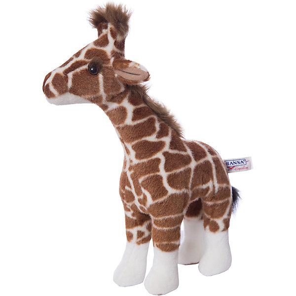Жираф, 38 см,  HansaМягкие игрушки животные<br>Симпатичный пятнистый жираф 38 см от Hansa (Ханса) с милейшей мордашкой и пучком волос станет настоящим другом для Вашего малыша! Зверушка настолько обаятельная, что не оставит равнодушным никого. Игрушка сделана из приятной на ощупь ткани, внутри неё находится гипоаллергенный наполнитель, поэтому жирафа можно брать в кроватку. Африканский житель принесет в Ваш дом много радости и счастья.<br><br>Мягкая игрушка  Жираф от  Hansa (Ханса)  настолько похожа на оригинал, что ее можно было бы спутать с настоящим животным, если б не разница в размерах. Игрушка сшита вручную из искусственного меха, текстиля и иных материалов высокого качества. Также она оснащена проволочным каркасом, позволяющим придавать зверушке различные позы.  Модель может быть использована не только в качестве классической мягкой игрушки, но и как элемент декора в интерьере. Изготавливаются из искусственного меха, специально обработанного для придания схожести с мехом конкретного вида животного. <br><br>Дополнительная информация:<br><br>- Высота: 38 см;<br>- Материал: искусственный мех, металл;<br>- Размер упаковки: 38 х 12 х 22 см;<br>- Вес с упаковкой: 265 г.<br><br>Жирафа, 38 см,  Hansa (Ханса) можно купить в нашем интернет-магазине.<br><br>Ширина мм: 220<br>Глубина мм: 120<br>Высота мм: 380<br>Вес г: 265<br>Возраст от месяцев: 36<br>Возраст до месяцев: 144<br>Пол: Унисекс<br>Возраст: Детский<br>SKU: 3563688