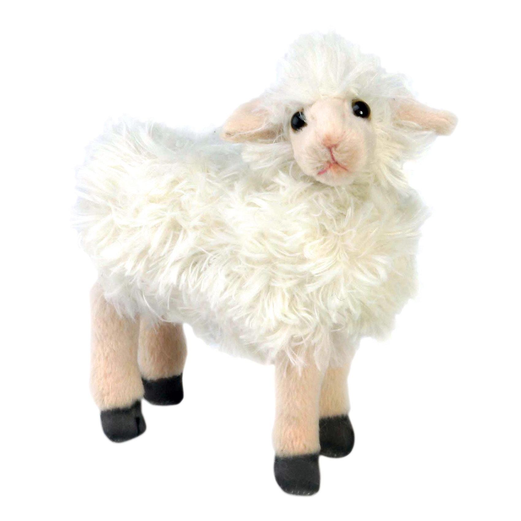 Овечка белая, 17 см,  HansaСимпатичная пушистая овечка 17 см от Hansa (Ханса) с милейшей мордашкой и тоненькими ножками станет настоящим другом для Вашего малыша! Зверушка настолько обаятельная, что не оставит равнодушным никого. Игрушка сделана из приятного на ощупь меха, ее приятно гладить и обнимать. Внутри неё находится гипоаллергенный наполнитель, поэтому овечку можно брать в кроватку. Деревенский житель принесет в Ваш дом много радости и счастья. Мягкая игрушка Овечка белая от  Hansa (Ханса)  настолько похожа на оригинал, что ее можно было бы спутать с настоящим животным, если б не разница в размерах. Игрушка сшита вручную из искусственного меха, текстиля и иных материалов высокого качества. Также она оснащена проволочным каркасом, позволяющим придавать зверушке различные позы и устойчиво стоять. Изготавливается игрушка из искусственного меха, специально обработанного для придания схожести с мехом конкретного вида животного. <br><br>Дополнительная информация:<br><br>- Высота: 17 см;<br>- Материал: искусственный мех, металл;<br>- Размер упаковки: 18 х 8 х 17 см;<br>- Вес с упаковкой: 480 г.<br><br>Овечку белую, 17 см,  Hansa (Ханса) можно купить в нашем интернет-магазине.<br><br>Ширина мм: 180<br>Глубина мм: 80<br>Высота мм: 170<br>Вес г: 480<br>Возраст от месяцев: 96<br>Возраст до месяцев: 204<br>Пол: Унисекс<br>Возраст: Детский<br>SKU: 3563693