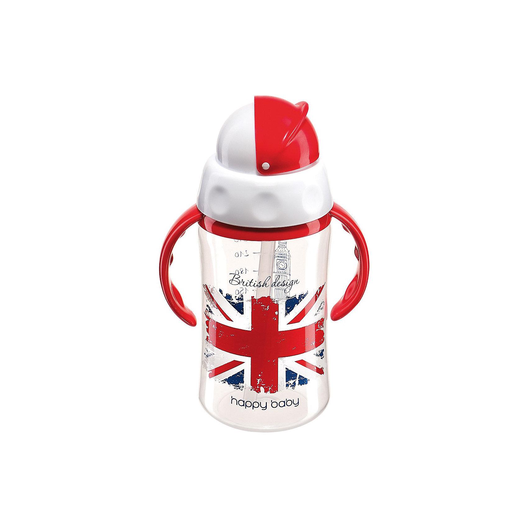 Поильник с трубочкой и вращающейся крышкой FEEDING CUP, 240мл., Happy Baby, BritishПоильник с трубочкой и вращающейся крышкой FEEDING CUP, 240мл., Happy Baby (Хэппи Бэби), British - обязательно понравится вашему  малышу.<br>Поильник с трубочкой и поворотной крышкой FEEDING CUP предназначен для детей с 18-ти месяцев. В нем предусмотрены удобные ручки, а также крышка, которая легко блокирует отверстие с трубочкой, чтобы содержимое не проливалось. Силиконовая трубочка удобна для питья и безопасна для нежных десен ребенка. Шкала делений в 30 мл позволит вам следить за тем, сколько жидкости осталось в поильнике. Изготовлен поильник из современных безопасных материалов. Поильник прост в уходе - его удобно мыть, чистить, собирать и разбирать. <br><br>Дополнительная информация:<br><br>- Объем: 240 мл.<br>- Материал: полипропилен, силикон.<br>- Удобная крышка<br>– Эргономичные ручки<br>– Шкала с делениями в 30 мл.<br>- Уход: мыть теплой водой с мылом, тщательно ополаскивать, сушить при комнатной температуре<br>- Вымыть перед первым использованием<br>- Внимание: Проверяйте поильник перед каждым использованием; незамедлительно  из употребления поврежденные изделия. Не оставляйте ребенка одного во время кормления. Не стерилизовать, не разогревать поильник в микроволновой печи. Не рекомендуется использовать для сильногазированных напитков.<br><br>Поильник с трубочкой и вращающейся крышкой FEEDING CUP, 240мл., Happy Baby (Хэппи Бэби), British можно купить в нашем интернет-магазине.<br><br>Ширина мм: 430<br>Глубина мм: 180<br>Высота мм: 195<br>Вес г: 100<br>Возраст от месяцев: 18<br>Возраст до месяцев: 36<br>Пол: Мужской<br>Возраст: Детский<br>SKU: 3564184