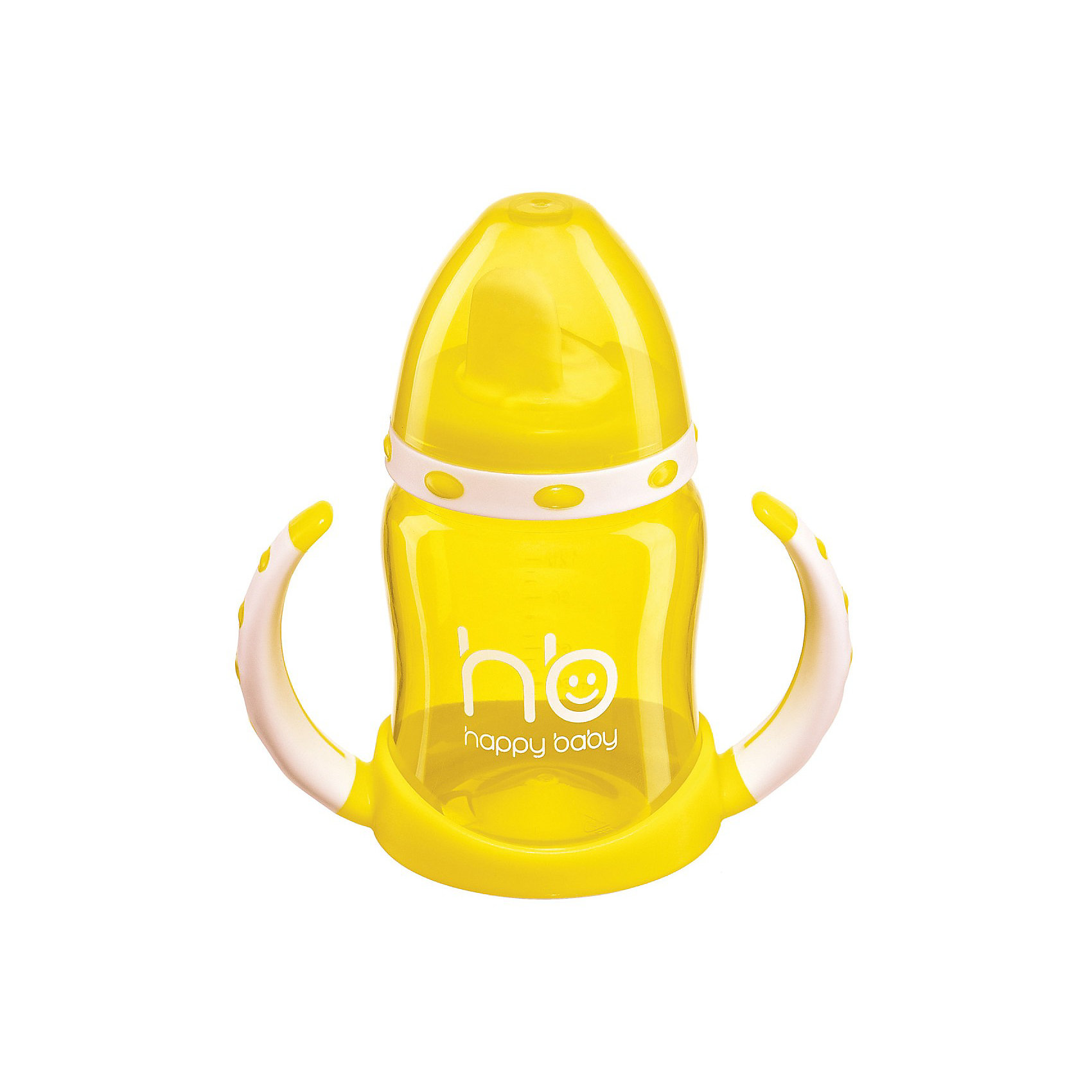 Поильник с двумя тренировочными клапанами ERGO CUP, 180мл., Happy Baby, лайм