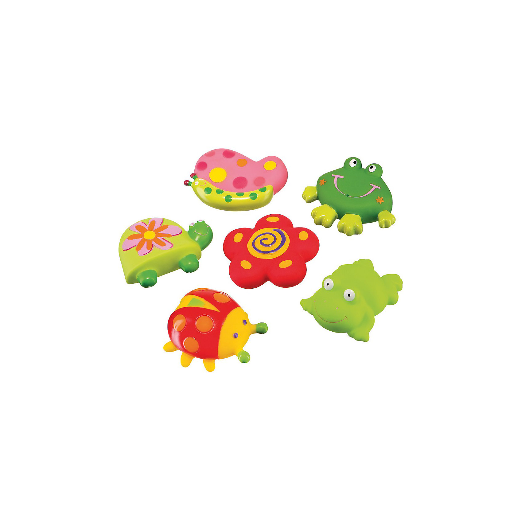 Набор ПВХ-игрушек для ванной Весёлый пруд, Happy Baby