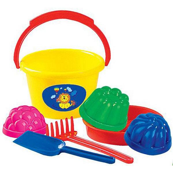 Набор песочный №11, ПолесьеИграем в песочнице<br>Характеристики товара:<br><br>• возраст: от 3 лет<br>• цвет: в ассортименте (уточняйте в комментарии).<br>• комплект: ведро среднее, сито, 3 формы, лопатка, грабли.<br>• материал: пластик<br>• размер упаковки: 18 x 15.5 x 10.5 см.<br><br>Набор №11 представляет собой набор для игры в песочнице, сложенный в удобном ведерке с яркой наклейкой. Он изготовлен из высококачественных прочных материалов, не вызывающих аллергии.<br><br>Набор песочный №11, Полесье можно купить в нашем интернет-магазине.<br>Ширина мм: 180; Глубина мм: 155; Высота мм: 105; Вес г: 190; Возраст от месяцев: 12; Возраст до месяцев: 60; Пол: Унисекс; Возраст: Детский; SKU: 3566328;