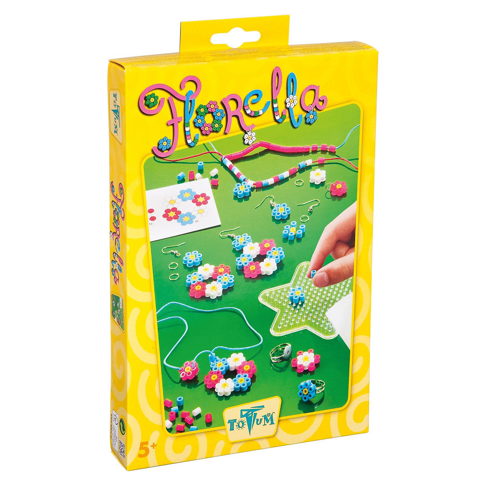 Набор для творчества ЦветыНабор для творчества Florella позволит вам создать множество украшений из термомозаики в виде цветов. Наборы для творчества - один из самых увлекательных способов развить мелкую моторику рук, фантазию, воображение и проявить творческие способности ребенка.<br><br>Дополнительная информация:<br><br>- Материал: пластик, металл, воск, бумага, текстиль.<br>- Комплектация: наборное поле, 4 сережки, 2 кольца, металлические колечки, разноцветная термомозаика, синий восковой шнур, розовый восковой шнур, двусторонняя лента, бумага для термомозаики, иголка для бисера, инструкция.<br>- Размер упаковки: 27х18 см.<br><br>Набор для творчества Цветы можно купить в нашем магазине.<br><br>Ширина мм: 285<br>Глубина мм: 189<br>Высота мм: 40<br>Вес г: 174<br>Возраст от месяцев: 60<br>Возраст до месяцев: 120<br>Пол: Женский<br>Возраст: Детский<br>SKU: 3567502