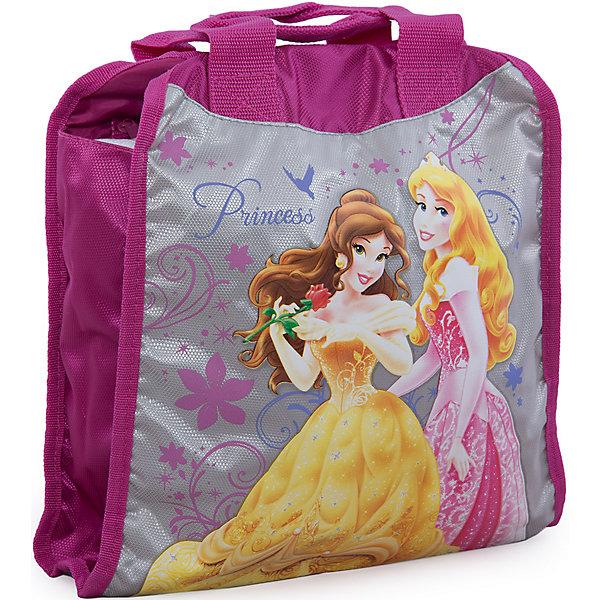Сумка, Принцессы ДиснейДетские сумки<br>Стильная и практичная сумка Disney Princess (Принцессы Диснея) идеально подойдет как для дошкольниц, так и для девочек постарше, с ней удобно путешествовать и отправляться на длительные прогулки. Сумочка достаточно вместительная и в нее  помещаются все необходимые вещи.<br><br>Сумочка носится через плечо, имеет удобный регулируемый ремешок, застежки на молнии. У сумочки есть два боковых кармана: фронтальный и на молнии. Сумочка имеет привлекательный дизайн, выполнена в розово-серебристых тонах и украшена изображением диснеевских принцесс.<br><br>Дополнительная информация:<br><br>- Материал: полиэстер.<br>- Размер: 33 х 29 см.<br>- Вес: 172 гр.<br><br>Сумку Disney Princess можно купить в нашем интернет-магазине.<br>Ширина мм: 100; Глубина мм: 330; Высота мм: 290; Вес г: 172; Возраст от месяцев: 48; Возраст до месяцев: 84; Пол: Женский; Возраст: Детский; SKU: 3571214;