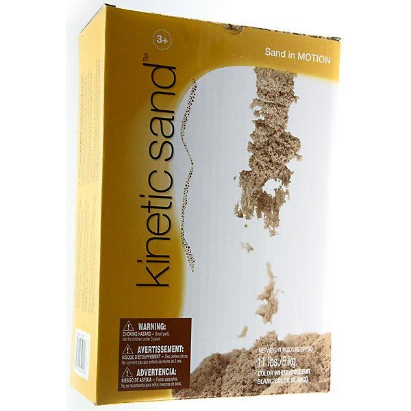 Кинетический песок, WABA FUN, 5 кгКинетический песок<br>Песок для лепки Kinetic Sand от Waba Fun - уникальный материал для детского творчества. Kinetic Sand представляет собой смесь чистейшего кварцевого песка (98%) и специального связующего агента (2%). По консистенции он напоминает влажный морской песок, рыхлый, течет сквозь пальцы, в то же время оставаясь сухим. За счет специального безопасного реагента песочная смесь никогда не распадается на отдельные песчинки. Кинетический песок абсолютно нетоксичен, не вызывает аллергии, в нем не заводятся бактерии и микробы. <br><br>Благодаря своим уникальным свойствам, кинетический песок предоставляет большие возможности для творчества. Из него можно лепить разнообразные фигуры, фантастические замки и необычные конструкции. С помощью обыкновенных формочек для пластилина или печенья можно вылепить что угодно, создавая целые композиции. Песок легко принимает нужную форму и становится плотным при лепке. Kinetic Sand не сохнет, легко собирается с поверхности и играть с ним можно снова и снова.<br><br>Игры с кинетическим песком развивают мелкую моторику, чувственное восприятие и креативность, прекрасно снимают стресс и обладает терапевтическим эффектом.<br><br>Дополнительная информация:<br><br>- Состав песка: 98% кварцевого песка, 2%  связующего агента.<br>- Размер упаковки: 18,5 x 8 x 27,5 см.<br>- Вес: 5 кг.<br><br>Песок для лепки Kinetic Sand от Waba Fun можно купить в нашем интернет-магазине.<br>Ширина мм: 200; Глубина мм: 65; Высота мм: 190; Вес г: 5000; Возраст от месяцев: 36; Возраст до месяцев: 84; Пол: Унисекс; Возраст: Детский; SKU: 3571648;