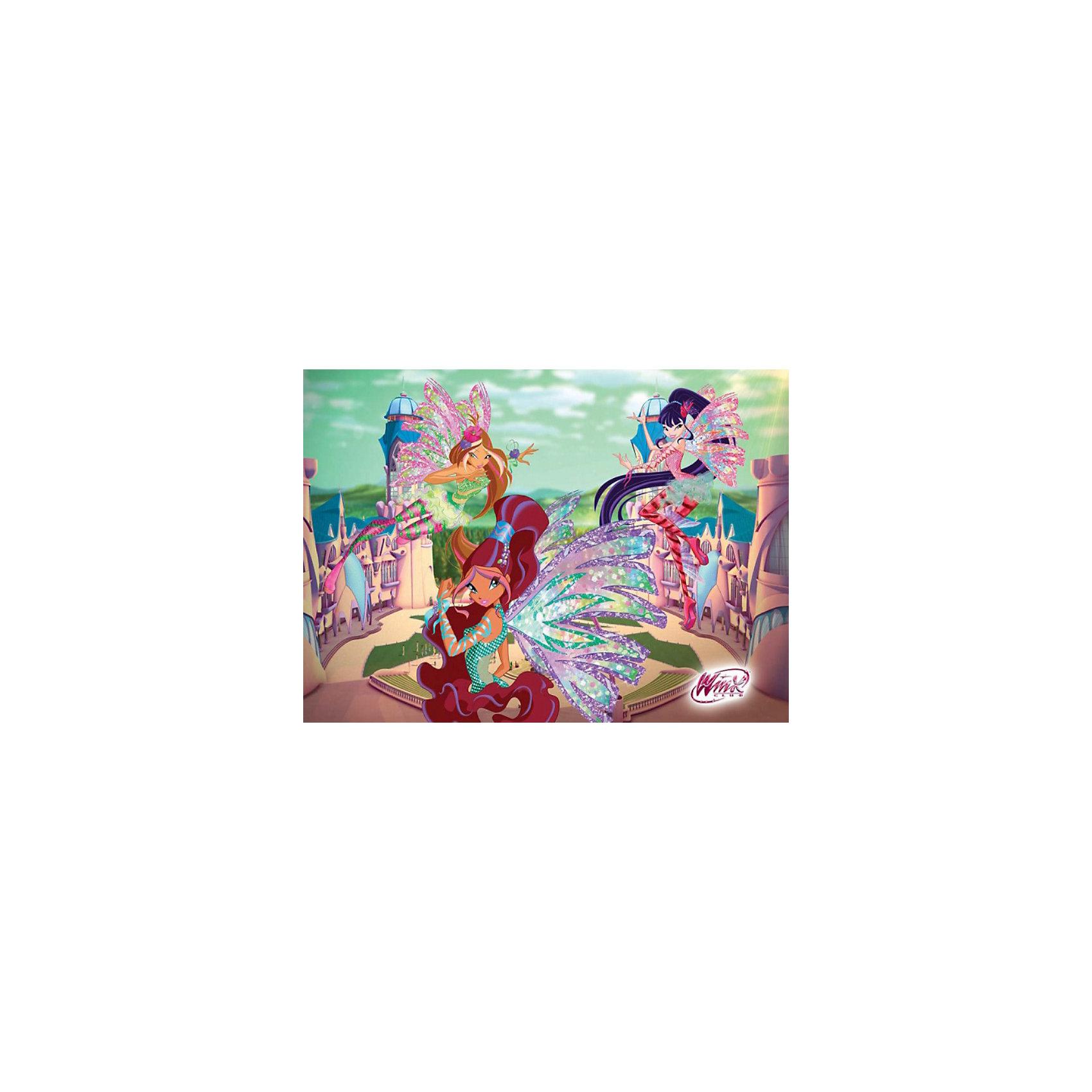 Пазл Волшебная школа Алфея, Winx Club, 260 деталей, CastorlandКоличество деталей<br>Порадуйте себя и своего ребенка великолепным Пазлом Волшебная школа Алфея, Winx Club (Винкс Клаб), 260 деталей, Castorland (Касторлэнд) с изображением героинь популярного мультфильма Школа волшебниц!<br><br>Школа волшебниц повествует о приключениях маленьких фей, обучающихся магии в школе Алфея. Алфея расположена в одном из живописных уголков мира Магикс. Сама школа – это два здания и 5 красивых башен, каждая из которых имеет особое назначение. Башни расположены по полукругу так, что внутри образуется внутренний дворик. Там разбит великолепный парк. Все это откроется взору ребенку, который верно собрал этот пазл: феи на фоне прекрасной школы магии. Яркие и качественные детали пазла привлекут внимание ребенка и позволят ему с удовольствием собирать картинку. <br><br>Особенности:<br>-Способствуют развитию образного и логического мышления, наблюдательности, мелкой моторики<br>-Высокое качество: точная нарезка, обеспечивающая стыковку деталей, качественная проработка деталей картинки, яркая цветовая гамма<br>-Изготовлено из экологического сырья<br>-Матовая поверхность исключает неприятные отблески<br><br>Комплектация: 260 деталей<br><br>Дополнительная информация:<br><br>-Размеры собранного пазла: 32х23 см<br>-Материал: картон<br><br>Пазл высокого качества с ярким и интересным изображением из любимого мультфильма приятно получать в подарок и интересно складывать!<br><br>Пазл Волшебная школа Алфея, Winx Club (Винкс Клаб), 260 деталей, Castorland (Касторлэнд) можно купить в нашем магазине.<br><br>Ширина мм: 245<br>Глубина мм: 175<br>Высота мм: 37<br>Вес г: 150<br>Возраст от месяцев: 36<br>Возраст до месяцев: 1188<br>Пол: Женский<br>Возраст: Детский<br>Количество деталей: 260<br>SKU: 3574397