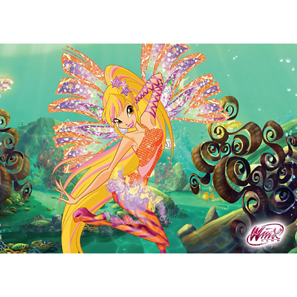 Пазл Стелла, Winx Club, 120 деталей, CastorlandПазлы классические<br>Порадуйте себя и своего ребенка великолепным Пазлом Стелла, Winx Club (Винкс Клаб), 120 деталей, Castorland (Касторлэнд) с изображением героини популярного мультфильма Школа волшебниц! Несмотря на то, что феи Винкс обладают волшебной силой, они во многом напоминают обычных девочек - модно одеваются, разбираются в компьютерах, любят музыку, они ходят в школу, играют, мечтают и влюбляются. <br><br>Стелла является принцессой планеты Солярия и у нее имеется кольцо Солярия, которое во время сражений со злыми ведьмами трансформируется в жезл. В школе волшебства она принимала участие в конкурсе красоты, где проявила себя, одержав победу. Вам предстоит из маленьких кусочков пазла собрать красивую картинку с любимой героиней Стеллой на фоне подводного пейзажа.<br><br>Особенности:<br>-Способствуют развитию образного и логического мышления, наблюдательности, мелкой моторики<br>-Высокое качество: точная нарезка, обеспечивающая стыковку деталей, качественная проработка деталей картинки, яркая цветовая гамма<br>-Изготовлено из экологического сырья<br>-Матовая поверхность исключает неприятные отблески<br><br>Комплектация: 120 деталей<br><br>Дополнительная информация:<br><br>-Размеры собранного пазла: 32х23 см<br>-Материал: картон<br><br>Пазл «Стелла» – отличное развлечение для всех девочек, которые любят мультик про Школу Волшебниц!<br><br>Пазл Стелла, Winx Club (Винкс Клаб), 120 деталей, Castorland (Касторлэнд) можно купить в нашем магазине.<br><br>Ширина мм: 175<br>Глубина мм: 130<br>Высота мм: 37<br>Вес г: 150<br>Возраст от месяцев: 36<br>Возраст до месяцев: 1188<br>Пол: Женский<br>Возраст: Детский<br>Количество деталей: 120<br>SKU: 3574399