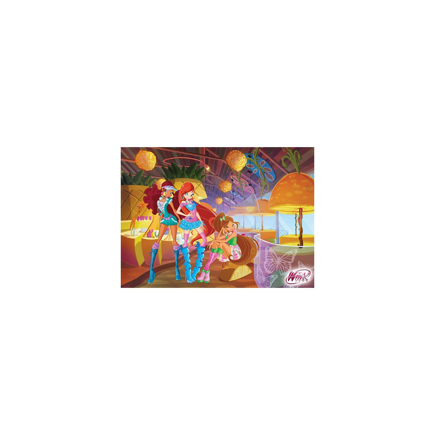 Пазл Вечеринка, Winx Club, 120 деталей, CastorlandПопулярные игрушки<br>Порадуйте себя и своего ребенка великолепным Пазлом Вечеринка, Winx Club (Винкс Клаб), 120 деталей, Castorland (Касторлэнд) с изображением героинь популярного мультфильма Школа волшебниц! <br><br>Несмотря на то, что феи Винкс обладают волшебной силой, они во многом напоминают обычных девочек – ходят в школу, любят музыку, играют, устраивают вечеринки.<br>Яркие и качественные детали этого пазла привлекут внимание ребенка и позволят ему с удовольствием собирать картинку.<br><br>Особенности:<br>-Способствуют развитию образного и логического мышления, наблюдательности, мелкой моторики<br>-Высокое качество: точная нарезка, обеспечивающая стыковку деталей, качественная проработка деталей картинки, яркая цветовая гамма<br>-Изготовлено из экологического сырья<br>-Матовая поверхность исключает неприятные отблески<br><br>Комплектация: 120 деталей<br><br>Дополнительная информация:<br><br>-Размеры собранного пазла: 32х23 см<br>-Материал: картон<br><br>Пазл «Вечеринка» – отличное развлечение для всех девочек, которые любят мультик про Школу Волшебниц!<br><br>Пазл Вечеринка, Winx Club (Винкс Клаб), 120 деталей, Castorland (Касторлэнд) можно купить в нашем магазине.<br><br>Ширина мм: 175<br>Глубина мм: 130<br>Высота мм: 37<br>Вес г: 150<br>Возраст от месяцев: 36<br>Возраст до месяцев: 1188<br>Пол: Женский<br>Возраст: Детский<br>Количество деталей: 120<br>SKU: 3574401