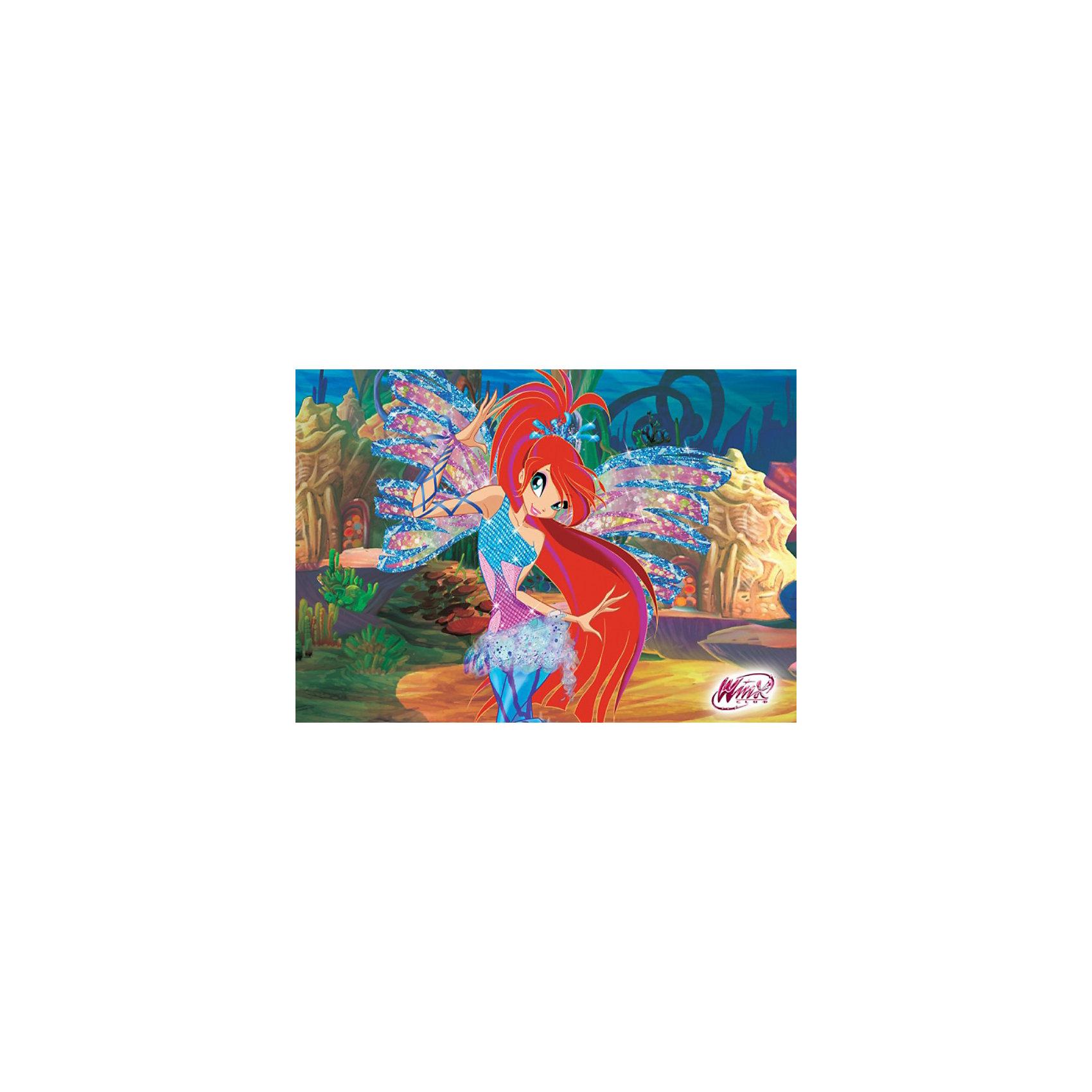 Пазл Блум, Winx Club, 60 деталей, CastorlandПорадуйте себя и своего ребенка великолепным Пазлом Блум, Winx Club (Винкс Клаб), 60 деталей, Castorland (Касторлэнд) с изображением героини популярного мультфильма Школа волшебниц! Несмотря на то, что феи Винкс обладают волшебной силой, они во многом напоминают обычных девочек - модно одеваются, разбираются в компьютерах, любят музыку, они ходят в школу, играют, мечтают и влюбляются. <br><br>Лидер и основатель Клуба Винкс – фея по имени Блум. Глядя на эту очаровательную рыжеволосую, голубоглазую и длинноногую красотку, никогда не подумаешь, что перед тобой одна из самых могущественных волшебниц сказочной реальности Матрикс. Блум может исцелять умирающих при помощи Огня Дракона, она может чувствовать присутствие волшебных существ и видеть ауры простых людей. Вам предстоит из маленьких кусочков пазла собрать красивую картинку с любимой героиней Блум на фоне подводного пейзажа.<br><br>Особенности:<br>-Способствуют развитию образного и логического мышления, наблюдательности, мелкой моторики<br>-Высокое качество: точная нарезка, обеспечивающая стыковку деталей, качественная проработка деталей картинки, яркая цветовая гамма<br>-Изготовлено из экологического сырья<br>-Матовая поверхность исключает неприятные отблески<br><br>Комплектация: 60 деталей<br><br>Дополнительная информация:<br><br>-Размеры собранного пазла: 32х23 см<br>-Материал: картон<br><br>Пазл «Блум» – отличное развлечение для всех девочек, которые любят мультик про Школу Волшебниц!<br><br>Пазл Блум, Winx Club (Винкс Клаб), 60 деталей, Castorland (Касторлэнд) можно купить в нашем магазине.<br><br>Ширина мм: 175<br>Глубина мм: 130<br>Высота мм: 37<br>Вес г: 150<br>Возраст от месяцев: 36<br>Возраст до месяцев: 1188<br>Пол: Женский<br>Возраст: Детский<br>Количество деталей: 60<br>SKU: 3574402