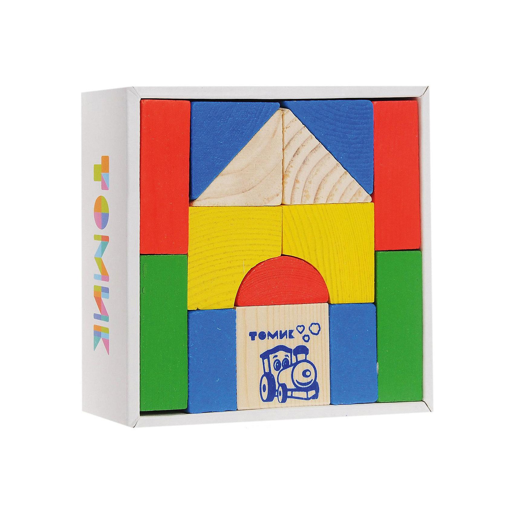 Томик Конструктор   Цветной, 14 деталей,  Томик томик деревянный конструктор цветной 26 деталей