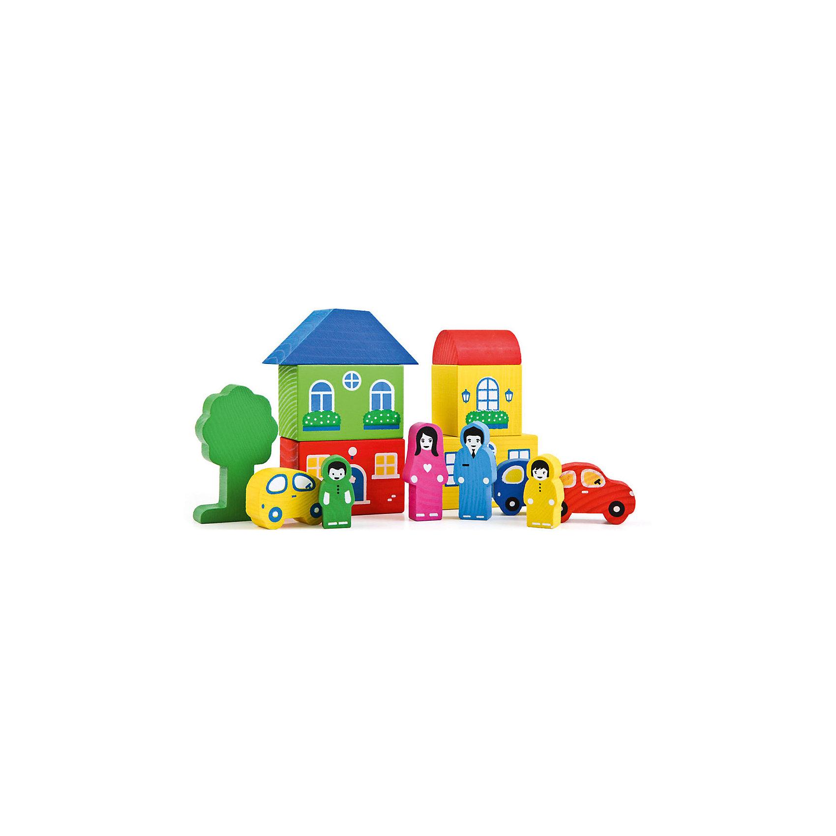 Конструктор   Цветной городок, 14 деталей,  ТомикДеревянные конструкторы<br>Конструктор «Цветной городок», 14 деталей, Томик - яркий конструктор для малышей из экологически чистого материала.<br><br>С этим замечательным конструктором Вы с малышом сможете придумать различные сюжеты для игр – построить дом, поиграть в ролевые игры с фигурками людей, покатать машинки, ведь для этого в наборе есть все необходимое. Этот красочный набор прекрасно подойдет для первого конструктора малыша, а также его можно сочетать с другими конструкторами Томик. <br><br>Комплектация:<br>- 14 различных деталей<br><br>Дополнительная информация:<br><br>- размер коробки: 21х17х4 см<br>- вес: 394 г<br>- материал: дерево<br><br>Конструктор «Цветной городок», 14 деталей, Томик поможет развить Вашему ребенку координацию движений, воображение, аккуратность и пространственное мышление.<br><br>Конструктор «Цветной городок», 14 деталей, Томик можно купить в нашем магазине.<br><br>Ширина мм: 210<br>Глубина мм: 170<br>Высота мм: 40<br>Вес г: 400<br>Возраст от месяцев: 36<br>Возраст до месяцев: 72<br>Пол: Унисекс<br>Возраст: Детский<br>SKU: 3574603