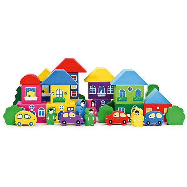 Деревянный конструктор Томик Цветной городок, 41 деталейДеревянные конструкторы<br>Характеристики:<br><br>• возраст: от 3 лет<br>• количество деталей: 41 шт.<br>• размер параллелепипедов: 6х4х4 см.<br>• размер машинок: 5х3х1,2 см.<br>• высота фигурок взрослых: 5 см.<br>• высота фигурок детей: 3,5 см.<br>• материал: дерево<br>• упаковка: картонная коробка<br>• размер упаковки: 25х22х4 см.<br>• вес: 958 гр.<br><br>Конструктор представлен набором деревянных фигурок, благодаря которым малыш сможет самостоятельно создать свой собственный городок. Из элементов набора можно построить несколько домов с крышами, окошками, балкончиками и входными дверями. В комплект входят фигурки деревянных человечков, легковых машин и деревьев.<br><br>Конструктор поможет ребёнку развить пространственное мышление, координацию движений и моторику рук. Элементы конструктора имеют яркие цвета, их можно использовать для обучения ребёнка основным цветам.<br><br>Элементы конструктора окрашены специальными красками, которые не поблекнут и не сотрутся со временем, используемые красители нетоксичны и гипоаллергенны. Края и грани деталей конструктора тщательно отшлифованы, имеют гладкую поверхность.<br><br>Игровой набор ТОМИК 8688-8 Цветной городок большой 41 дет. можно купить в нашем интернет-магазине.<br><br>Ширина мм: 250<br>Глубина мм: 220<br>Высота мм: 40<br>Вес г: 958<br>Возраст от месяцев: 36<br>Возраст до месяцев: 60<br>Пол: Унисекс<br>Возраст: Детский<br>SKU: 3574604