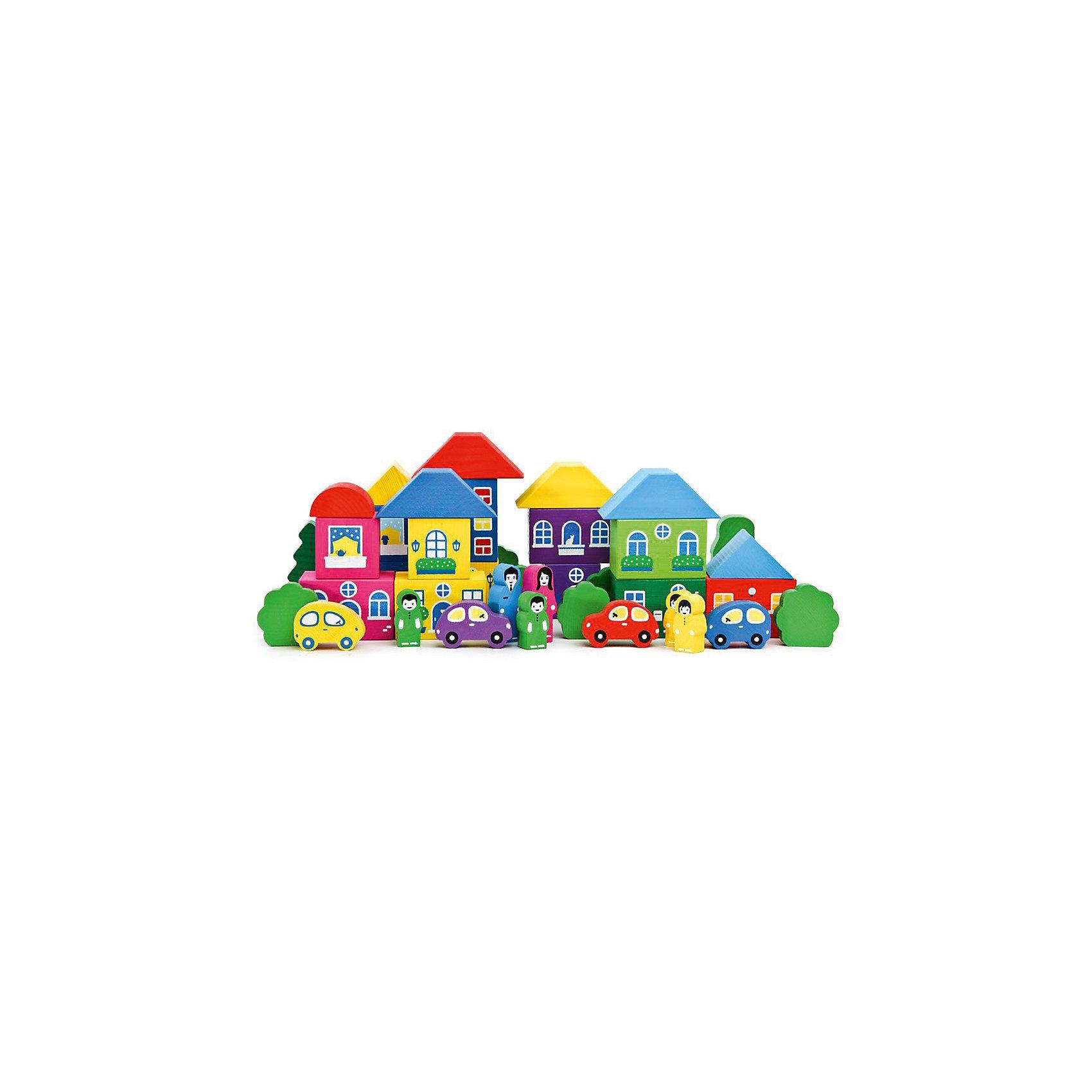 Конструктор   Цветной городок ,41 деталь,  ТомикКонструктор «Цветной городок», 41 деталь, Томик – очень яркий и красивый конструктор для создания городка и ролевых игр с ним.<br><br>В этом замечательном конструкторе есть все, для того, чтобы построить городок – различные домики, деревья, машинки и человечки. На домиках нарисованы окошки различных форм, шторки и цветочки на подоконниках. Детали конструктора выполнены из экологически чистого материала – древесины хвойных пород, а значит, безопасны для малышей.<br><br>Комплектация:<br>- 41 различная деталь<br><br>Дополнительная информация:<br><br>- размер коробки: 25х22х4 см<br>- вес: 1069 г<br>- материал: дерево<br><br>Конструктор «Цветной городок», 41 деталь, Томик - отличный подарок ребенку, развивающий воображение, пространственное мышление, координацию движений и мелкую моторику рук.<br><br>Конструктор «Цветной городок», 41 деталь, Томик можно купить в нашем магазине.<br><br>Ширина мм: 250<br>Глубина мм: 220<br>Высота мм: 40<br>Вес г: 1000<br>Возраст от месяцев: 36<br>Возраст до месяцев: 60<br>Пол: Унисекс<br>Возраст: Детский<br>SKU: 3574604