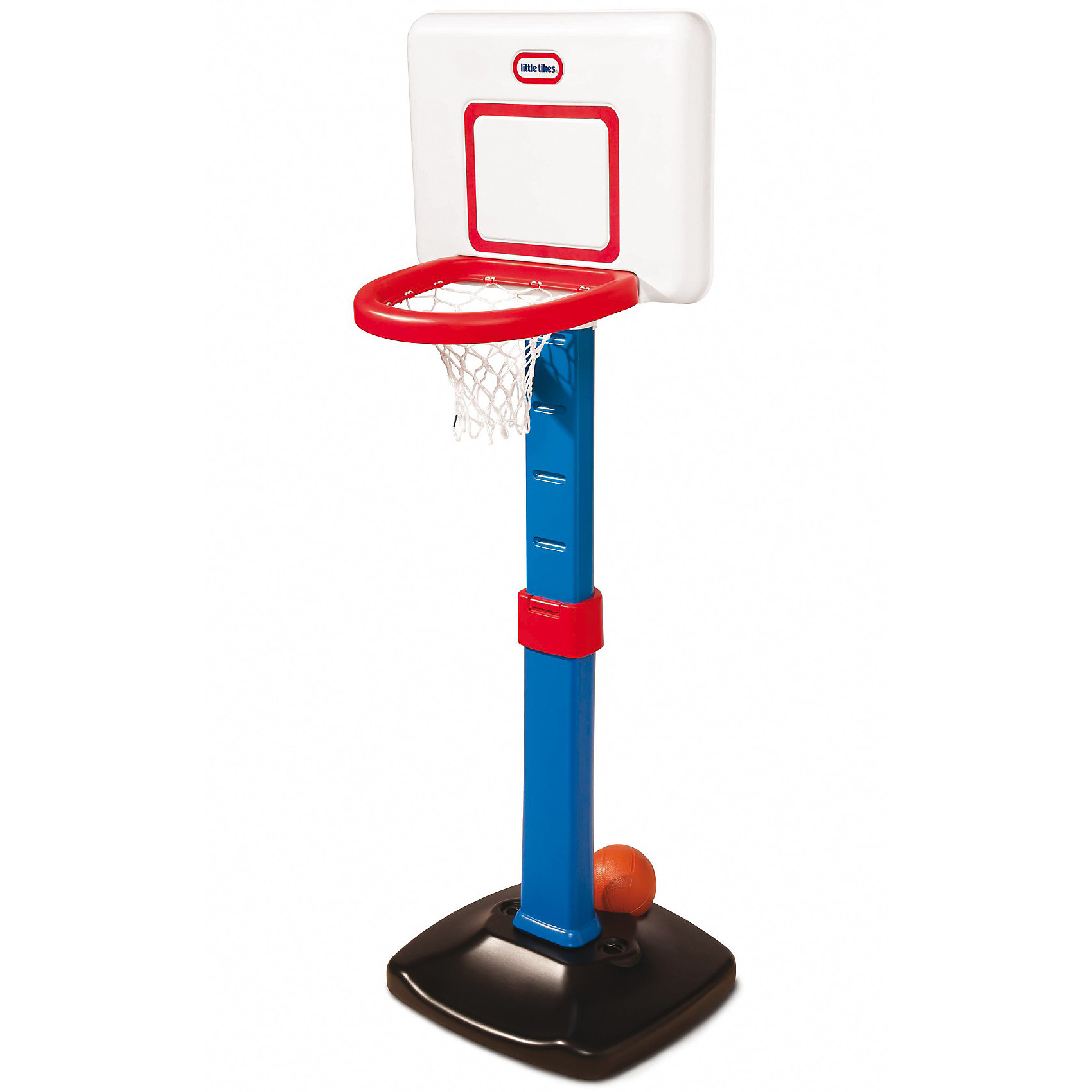 Баскетбольный щит раздвижной, Little TikesБаскетбольный щит раздвижной, Little Tikes (Литтл Тайкс) – это удобный и интересный набор для игр на открытом воздухе. <br><br>Щит для игры в баскетбол можно установить дома или на улице. Регулируемая конструкция позволяет играть в мяч детям от 1,5 лет. В процессе активной игры у ребенка развивается мелкая моторика, координация, ловкость и выносливость. Командный дух объединяет игроков и способствует развитию коммуникативных навыков. Этот регулируемый набор для баскетбола идеален для растущих малышей!<br><br>Характеристики:<br>-Развивает: координацию движений, физическую силу, командный дух<br>-Набор имеет 6 уровней регулировки высоты от 60 до 120 см<br>-Щит имеет реалистичный дизайн в стиле НБА<br>-Мячик может храниться в основании<br>-Мобильность конструкции позволяет с легкостью собирать и разбирать щит<br><br>Комплектация: баскетбольный щит, мягкий мячик<br><br>Дополнительная информация:<br>-Внутрь основания рекомендуется насыпать песок для большей устойчивости<br>-Материалы: пластмасса<br>-Вес: 12 кг<br><br>Баскетбольный щит будет расти вместе с Вашим малышом и наслаждение от игры в мяч растянется на долгие годы!<br><br>Баскетбольный щит раздвижной, Little Tikes (Литтл Тайкс) можно купить в нашем магазине.<br><br>Ширина мм: 670<br>Глубина мм: 120<br>Высота мм: 570<br>Вес г: 4090<br>Возраст от месяцев: 18<br>Возраст до месяцев: 60<br>Пол: Унисекс<br>Возраст: Детский<br>SKU: 3576870