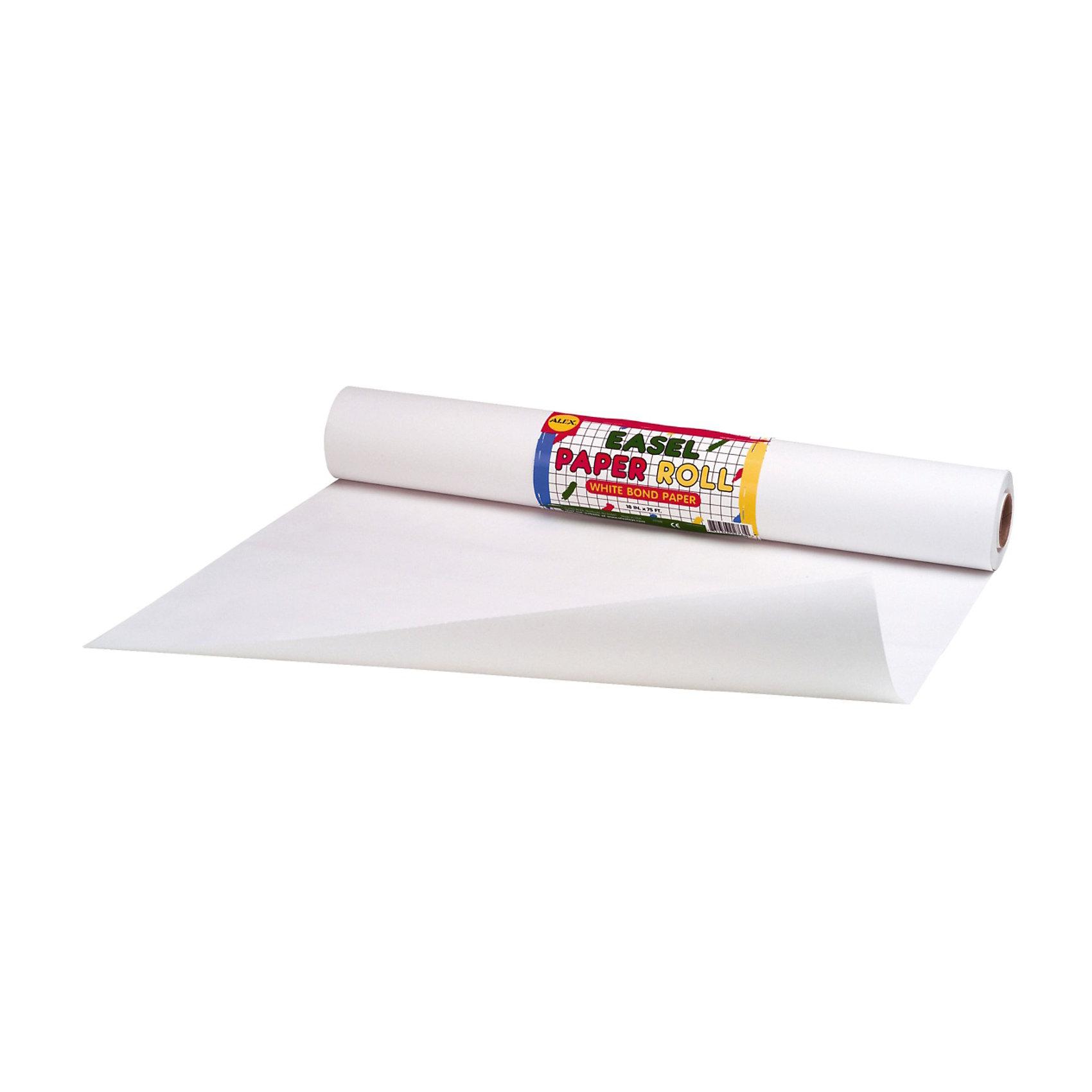 Белая бумага  для мольбертов и столов для творчества, в рулоне 45см х  30 м, AlexБелая бумага  для мольбертов и столов для творчества удобна для занятий творчеством и математикой. Юные художники и фантазеры смогут подолгу рисовать все, что душе угодно на своих мольбертах досках для рисования и развивающих столиках.<br><br>Дополнительная информация:<br><br>- рулон длиной 30 м, шириной 45 см<br>- вес с упаковкой: 800 гр. <br>- размер упаковки : 46?7?7 см.<br><br>Белую бумагу  для мольбертов и столов для творчества в рулоне 45см х  30 м Alex (Алекс) можно купить в нашем магазине.<br><br>Ширина мм: 460<br>Глубина мм: 70<br>Высота мм: 70<br>Вес г: 800<br>Возраст от месяцев: 36<br>Возраст до месяцев: 108<br>Пол: Унисекс<br>Возраст: Детский<br>SKU: 3582868