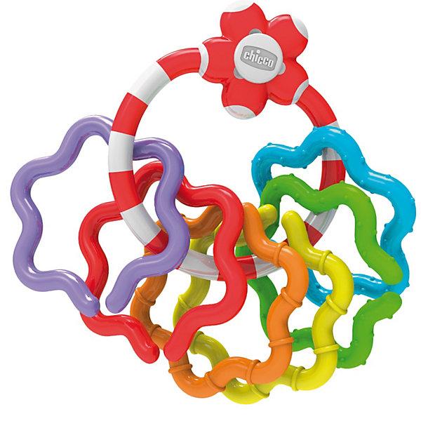 Игрушка-погремушка Кольца, ChiccoИгрушки для новорожденных<br>Характеристики товара:<br><br>• возраст от 3 месяцев;<br>• материал: пластик;<br>• размер упаковки 21х16,5х3,5 см;<br>• вес упаковки 67 гр.;<br>• страна производитель: Китай. <br><br>Игрушка-погремушка «Кольца» Chicco состоит из основного кольца и нанизанных на него разноцветных колечек. Колечки снимаются с основного кольца, соединяются между собой, образуя гирлянду. Можно менять их количество, добавлять, уменьшать, что помогает развивать у малышей логическое мышление. Игрушка поспособствует развитию хватательного рефлекса, мелкой моторики рук, тактильных ощущений, цветового восприятия. Игрушка выполнена из качественного гипоаллергенного пластика.<br><br>Игрушку-погремушку «Кольца» Chicco можно приобрести в нашем интернет-магазине.<br>Ширина мм: 208; Глубина мм: 164; Высота мм: 36; Вес г: 72; Возраст от месяцев: 3; Возраст до месяцев: 12; Пол: Унисекс; Возраст: Детский; SKU: 3587123;