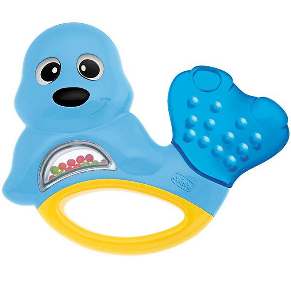 Погремушка с прорезывателем Тюлень, ChiccoИгрушки для новорожденных<br>Погремушка с прорезывателем Тюлень, Chicco (Чико) – эта забавная погремушка-прорезыватель привлечет внимание вашего малыша.<br>Симпатичная погремушка в форме тюленя прекрасно успокоят Вашего ребенка в период, когда у него прорезаются зубы. Хвостик тюленя охлаждает руку, а цветные шарики весело позвякивают, когда ребенок трясет их. Яркие и насыщенные цвета привлекают внимание ребенка, помогают концентрировать взгляд на предмете, а перезвон погремушки - тренируют слух малыша.<br><br>Дополнительная информация:<br><br>- Материал: высококачественная пластмасса<br>- Размер упаковки: 23 x 14 x 2 см.<br><br>Погремушку с прорезывателем Тюлень, Chicco (Чико) можно купить в нашем интернет-магазине.<br>Ширина мм: 208; Глубина мм: 161; Высота мм: 26; Вес г: 98; Возраст от месяцев: 3; Возраст до месяцев: 18; Пол: Унисекс; Возраст: Детский; SKU: 3587124;