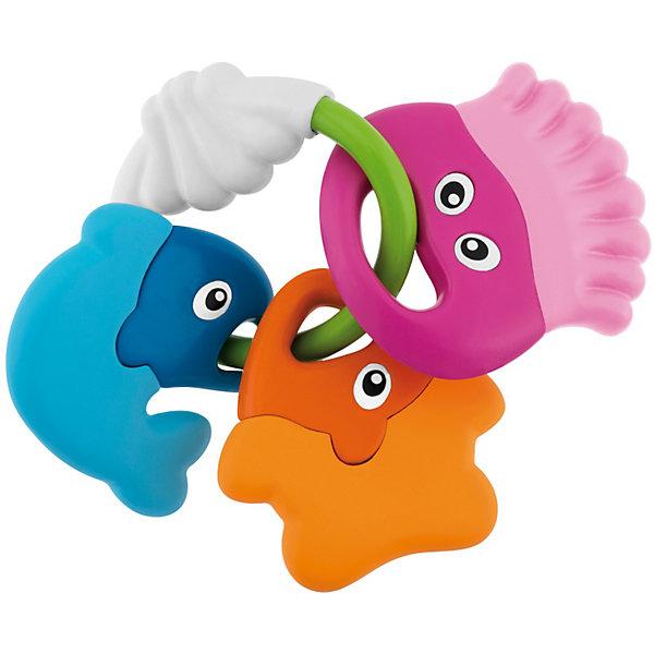 Погремушка Морские животные, ChiccoИгрушки для новорожденных<br>Погремушка Морские животные, Chicco (Чико) – эта забавная погремушка-прорезыватель привлечет внимание вашего малыша.<br>Симпатичная погремушка в форме 3 забавных рыбок прекрасно успокоят Вашего ребенка в период, когда у него прорезаются зубы. Три разноцветные рыбки легко ложатся в руку благодаря удобному кольцу. Они изготовлены из жесткой пластмассы с одной стороны, и из мягкой пластмассы с внешней стороны. Яркие и насыщенные цвета привлекают внимание ребенка, помогают концентрировать взгляд на предмете, а перезвон погремушки - тренируют слух малыша.<br><br>Дополнительная информация:<br><br>- Материал: высококачественная пластмасса<br>- Размер упаковки: 23 x 14 x 2 см.<br><br>Погремушку Морские животные, Chicco (Чико) можно купить в нашем интернет-магазине.<br><br>Ширина мм: 209<br>Глубина мм: 164<br>Высота мм: 44<br>Вес г: 99<br>Возраст от месяцев: 3<br>Возраст до месяцев: 18<br>Пол: Унисекс<br>Возраст: Детский<br>SKU: 3587125