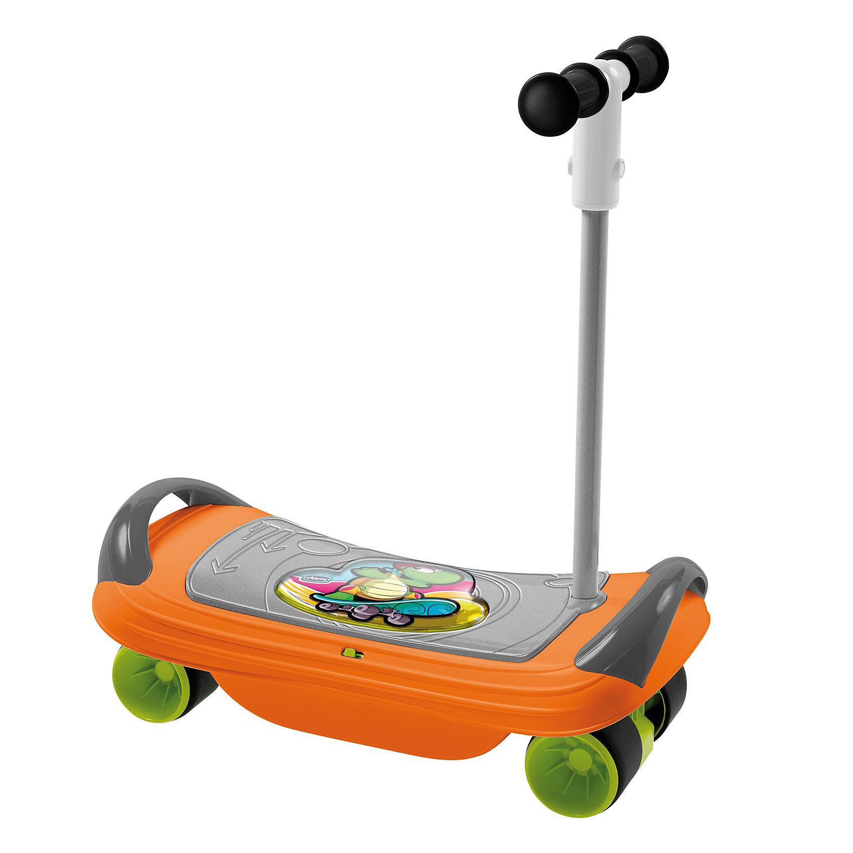 Скейтборд BalansKate, ChiccoСамокаты<br>Скейтборд BalansKate, Chicco (Чико) – это спортивно-развивающая игрушка 3 в 1 для детей от 1,5 года.<br>Стильный и быстрый Скейтборд BalansKate от Chicco станет новым спортивным увлечением Вашего ребенка! Скейтборд состоит из широкой доски с двумя ручками по бокам, четырех пластиковых колес с резиновыми накладками и съемной ручкой-рулем. Скейтборд BalansKate – это 3 продукта в 1 для развития последовательного баланса Вашего ребенка. Дети от 18 месяцев смогут развивать на скейте координацию движения и моторику, используя ее как доску для баланса. Музыкальные эффекты развлекут и развеселят малыша, но также и помогут балансировать – ведь мелодия прекращается, если малыш теряет равновесие. В 2 года можно пробовать использовать скейт как самокат. Для этого нужно лишь отвинтить раму с расположенными на ней колесами и вставить руль в специальную пройму. И наконец, для 3-х летнего ребенка игрушка превращается в полноценный скейтборд, на котором можно разгоняться и пробовать разнообразные трюки. Изготовлено из высококачественных безопасных материалов.<br><br>Дополнительная информация:<br><br>- Материал: пластик, резина, металл<br>- Размеры: 510 х 240 х 160 мм, высота руля 600 мм.<br>- Размер упаковки: 53 х 36 х 17 см.<br>- Батарейки: 2 х АА, 1,5 В (в комплект не входят)<br><br>Скейтборд BalansKate, Chicco (Чико) можно купить в нашем интернет-магазине.<br><br>Ширина мм: 540<br>Глубина мм: 360<br>Высота мм: 183<br>Вес г: 2364<br>Возраст от месяцев: 18<br>Возраст до месяцев: 48<br>Пол: Унисекс<br>Возраст: Детский<br>SKU: 3587135