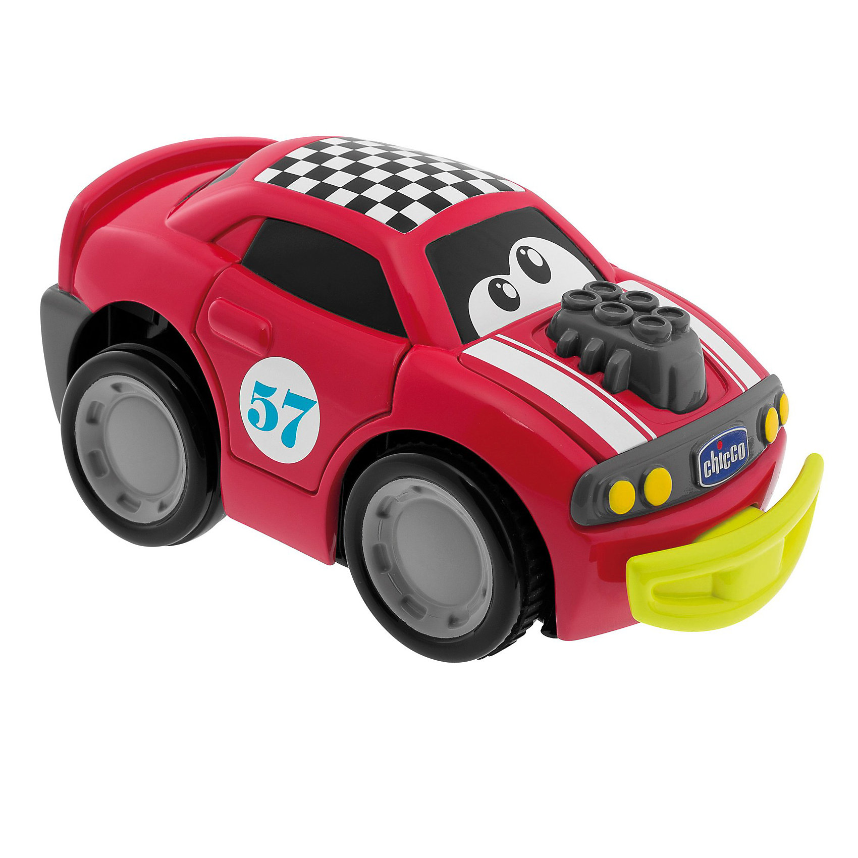 Машинка Turbo Touch Crash, красная, Chicco