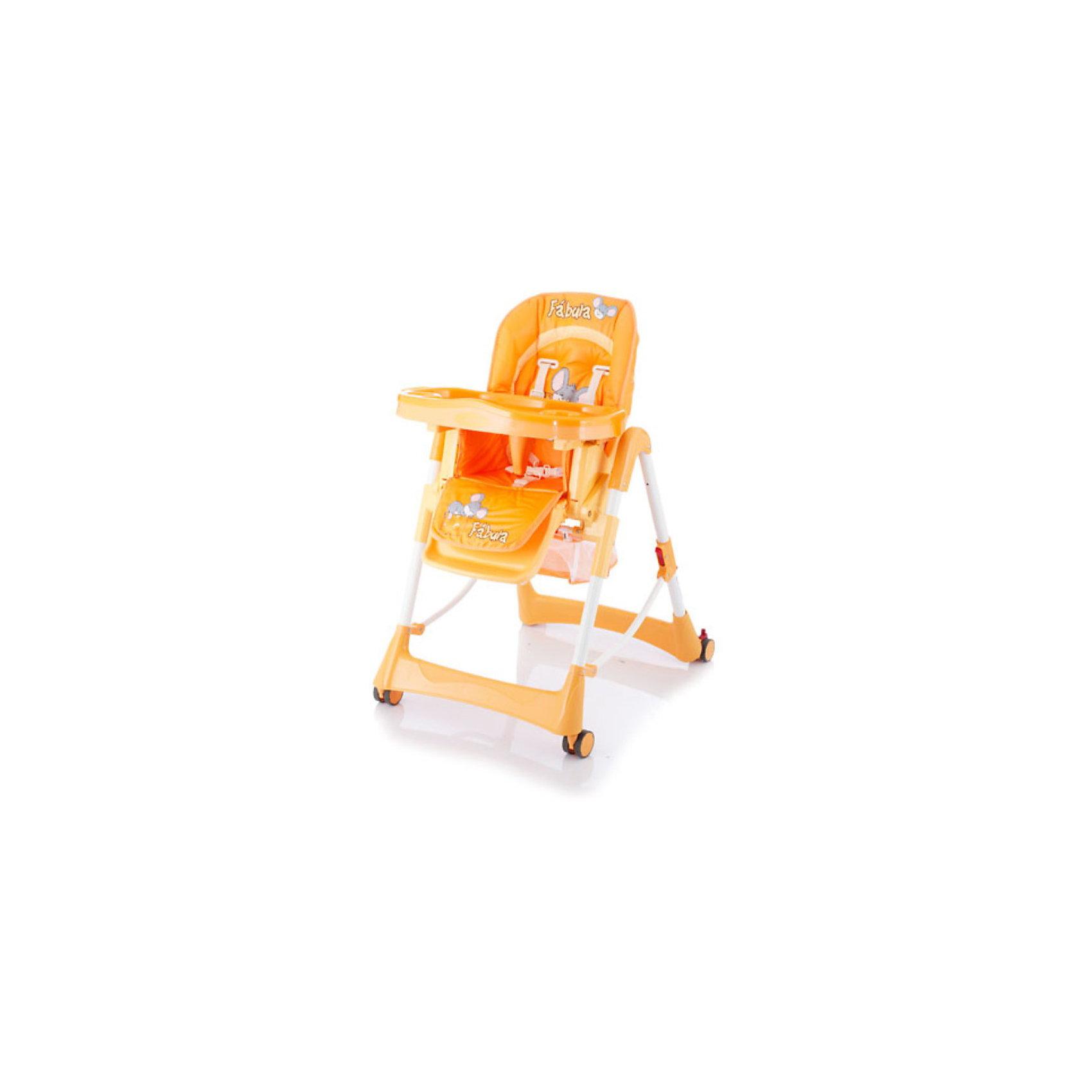 Стульчик для кормления Piero Fabula, Jetem, оранжевыйДаже при наличии ограниченного пространства, стульчик для кормления Jetem Piero Fabula (Жетем Пьеро Фабула) станет Вашим главным помощником в кормлении и играх с ребенком. Возможность простого складывания до компактных размеров, позволяет данной модели не занимать много лишнего места. Прорезиненные колеса, могут быть использованы для перемещения стульчика по комнате, не прилагая особых усилий, при этом, даже самое деликатное напольное покрытие не поцарапается. Молодой маме будет легко ухаживать за таким изделием, так как оно изготовлено из легко моющейся пластмассы и имеет съемную клеенчатую обивку. А ребенку понравится яркий дизайн и веселая расцветка.<br>Стульчик Jetem Piero Fabula (Жетем Пьеро Фабула) можно регулировать по высоте (6 положений), уровню наклона спинки (3 уровня) и глубине столешницы (3 степени), что позволит Вам удобно и полезно использовать его как для первого прикорма, так и для игр с подросшим малышом. Для обеспечения безопасности Вашего малыша, применяется ограничитель и 5-ти точечные ремни безопасности, а наличие поперечной металлической рамы и регулируемой подножки, придают стульчику максимально надежную устойчивость. Изделие имеет прочную сетку для игрушек ребенка. Комфортный и продуманный стул на все случаи жизни!<br><br>Дополнительная информация:<br><br>- 6 уровней высоты кресла; <br>- 3 положения наклона спинки;<br>- 3 положения глубины столешницы; <br>- 5-ти точечные ремни безопасности; <br>- Ограничитель не позволяет ребенку соскальзывать со стульчика; <br>- Съемная дополнительная прозрачная столешница; <br>- Регулируемая подножка; <br>- Просторная сетка для игрушек; <br>- Устойчиво стоит в сложенном состоянии, что очень важно для ограниченных пространств; <br>- Легко моющаяся клеенчатая обивка; <br>- Прорезиненные колеса, щадящие напольные покрытия; <br>- Рама с поперечной перекладиной для обеспечения максимальной устойчивости; <br>- Эксклюзивный дизайн;<br>- Максимальный вес ребенка
