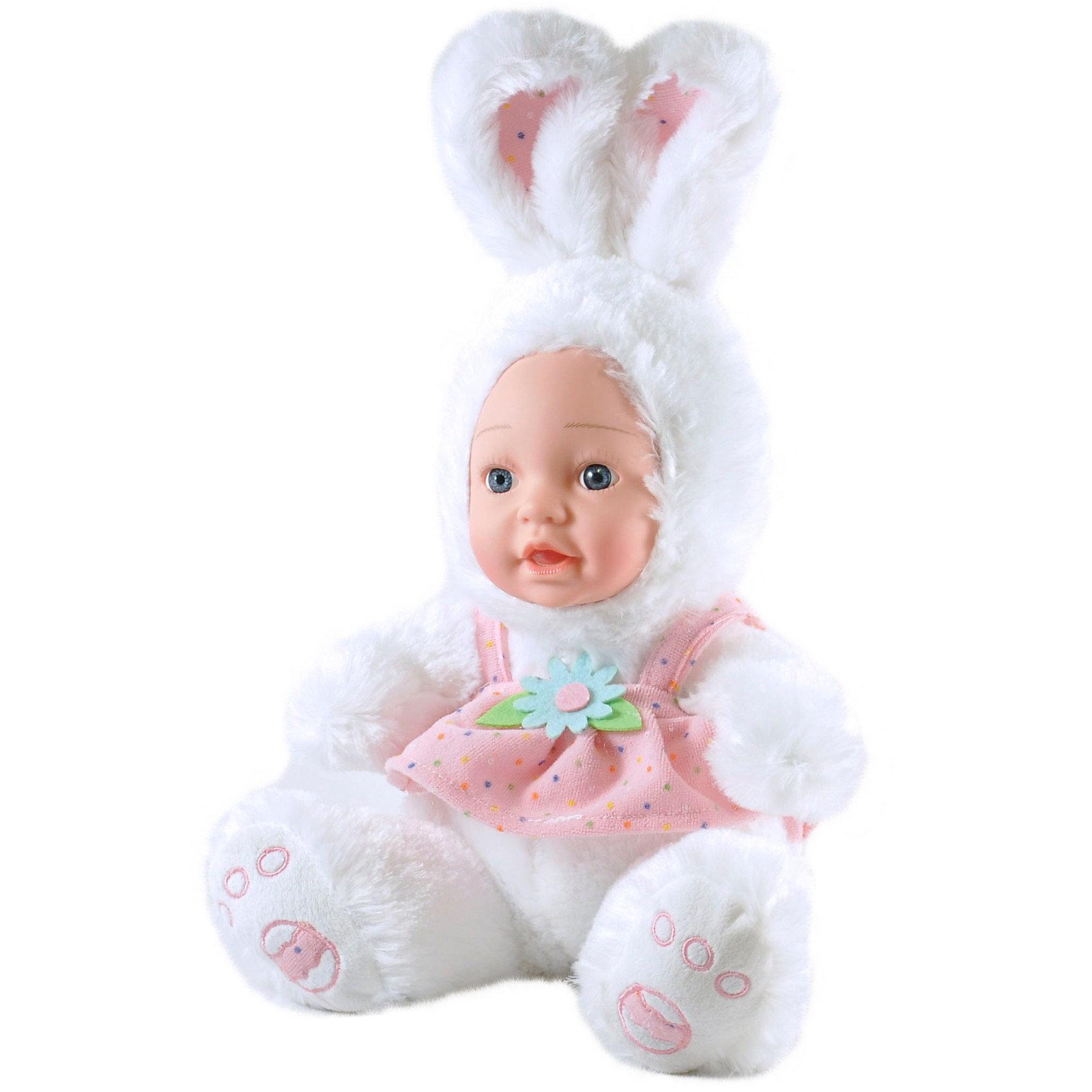 Кукла Зайчик в платьице, Anna De WaillyМягкие куклы<br>Кукла Зайчик в платьице, Anna De Wailly (Анна Дэ Вэйли) – это настоящий шедевр от французского дизайнера-модельера, которая производит авторские наряды для маленьких детей. <br><br>Очаровательная кукла-малышка Зайчик в платьице – это настоящий «спасатель» настроения. Перед трогательной куклой, выполненной в образе зайчика в розовом платье, не устоит никто! Выразительные глазки куклы открыто и доверчиво смотрят на мир, словно приглашая подружиться и доверить плюшевому другу свои секреты.<br><br>Дополнительная информация:<br>-Материал: ПВХ, мех искусственный<br>-Высота: 25 см<br><br>Кукла-малыш зайчик – это настоящий шедевр. Трогательное личико куколки не оставит равнодушными ни детей ни взрослых!<br><br>Кукла Зайчик в платьице, Anna De Wailly (Анна Дэ Вэйли) можно купить в нашем магазине.<br><br>Ширина мм: 240<br>Глубина мм: 150<br>Высота мм: 100<br>Вес г: 220<br>Возраст от месяцев: 36<br>Возраст до месяцев: 1188<br>Пол: Женский<br>Возраст: Детский<br>SKU: 3588195