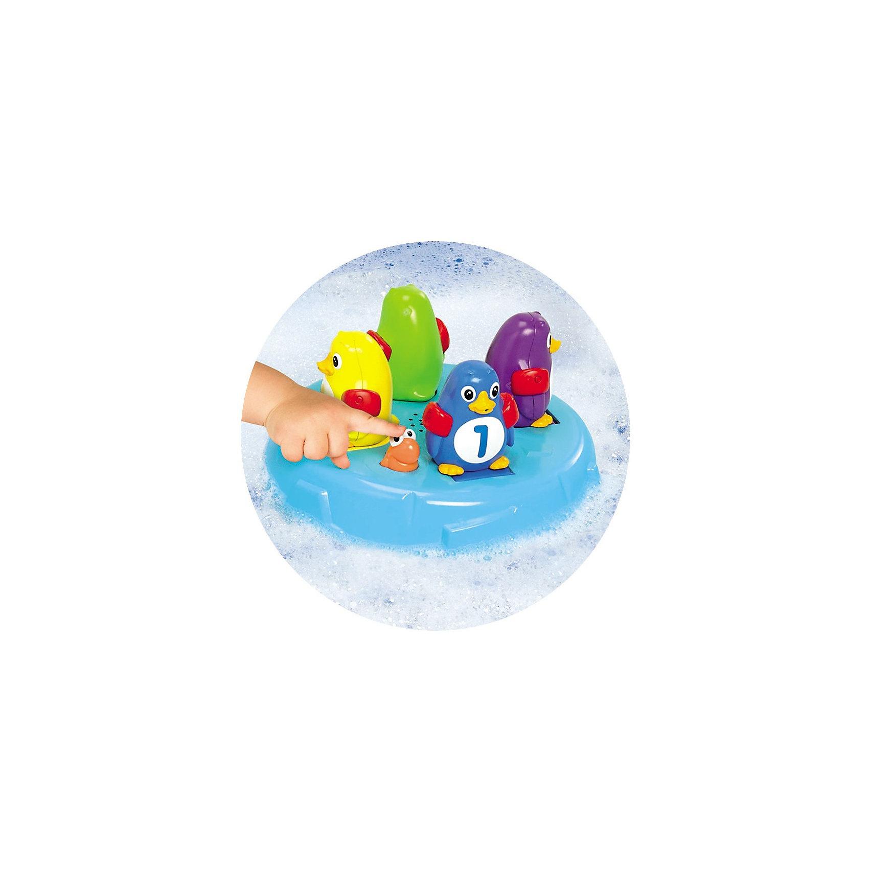 Игрушка для ванной Остров Пингвинов-Прыгунов, TOMYИдеи подарков<br>Игрушка для ванной  Островок Прыгунов Пингвинов от известной японской компании Томи сделает купание Вашего малыша весёлым и увлекательным!  <br>пингвинчику нужно занять платформу своего цвета. Все готовы?  Нажимаем на рыбку и под веселую музыку наши пингвины начинают по порядку  прыгать в воду, 1-й, 2-й, 3-й и 4-й. Можно вместе с малышом  попробовать поймать прыгающих пингвинов. Не получилось? Давайте попробуем снова! <br>Эта увлекательная игрушка подарит Вам и Вашему малышу много радостных минут во время купания! <br>Все игрушки Томи отличает высочайшее японское качество, уровень безопасности и надежность.<br><br>Дополнительная информация:<br><br>В комплекте:  островок с рыбкой и 4 разноцветных пингвина. <br>Работает от 3-х  батареек  ААА ( в комплект не входят)<br>Размеры упаковки: 28 x 28 x 8.5 см.<br><br>Игрушка для ванной Остров Пингвинов-Прыгунов, TOMY (Томи) можно купить в нашем магазине.<br><br>Ширина мм: 286<br>Глубина мм: 283<br>Высота мм: 91<br>Вес г: 748<br>Возраст от месяцев: 18<br>Возраст до месяцев: 36<br>Пол: Унисекс<br>Возраст: Детский<br>SKU: 3590470