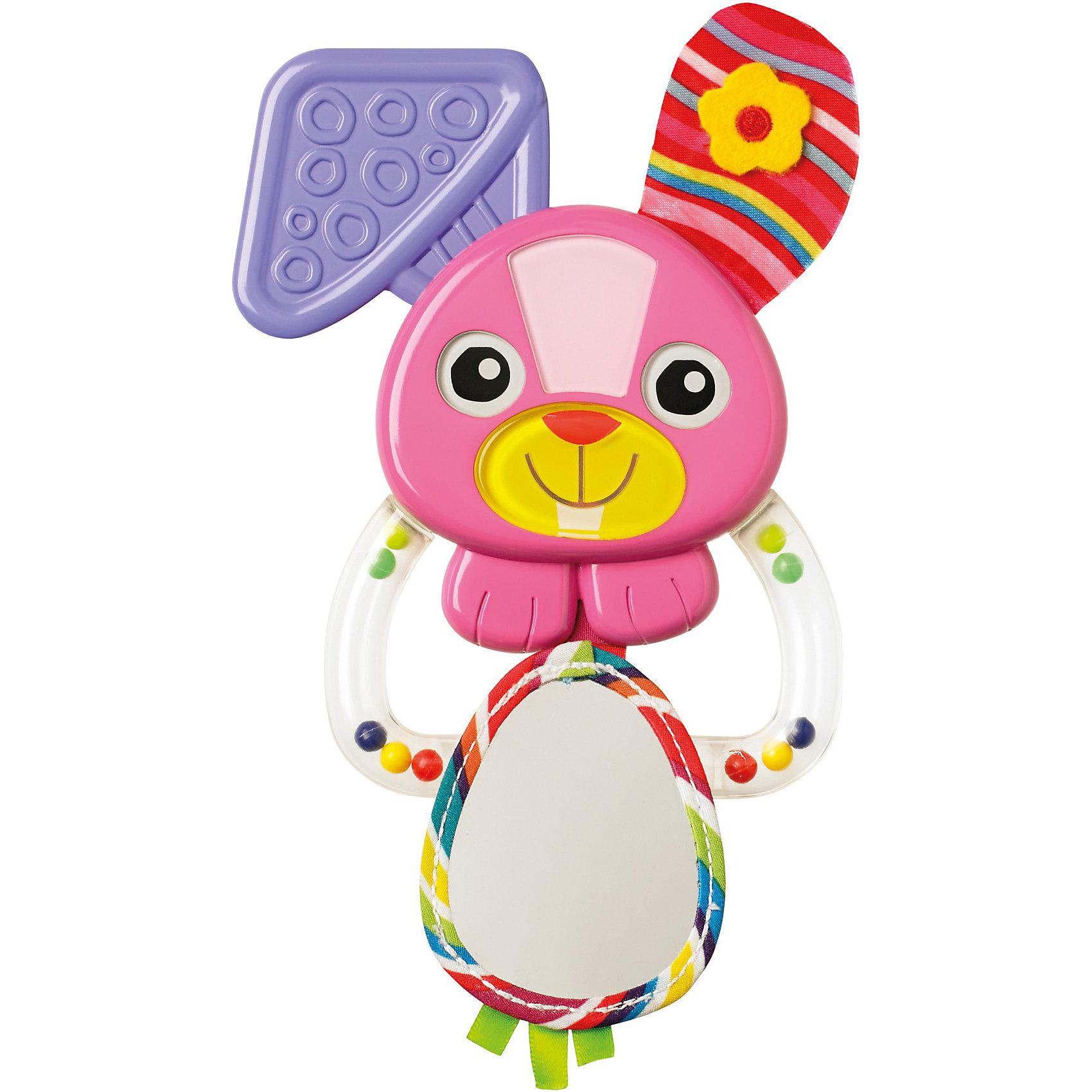 Погремушка Зайка Белла, LamazeИдеи подарков<br>Зайка Белла от Lamaze - прекрасная яркая погремушка, которая обязательно заинтересует кроху. Выполнена из материалов разной фактуры, прекрасно развивает тактильные ощущения, звуковое и цветовое восприятие. Мягкое пластиковое ушко можно погрызть, а за колечко - прицепить погремушку к кроватке, коляске или манежу. Игрушка изготовлена из высококачественных материалов и абсолютна безопасна для детей. Погремушку очень удобно держать, т.к. она имеет удобную конструкцию, адаптированную под ручки малышей. <br><br>Дополнительная информация:<br><br>- Материал: текстиль, полиэстер.<br>- Цвет: разноцветная.<br>- Размер: 18 см.<br><br>Погремушку Зайка Белла, Lamaze можно купить в нашем магазине.<br><br>Ширина мм: 256<br>Глубина мм: 129<br>Высота мм: 27<br>Вес г: 74<br>Возраст от месяцев: 3<br>Возраст до месяцев: 10<br>Пол: Женский<br>Возраст: Детский<br>SKU: 3592713