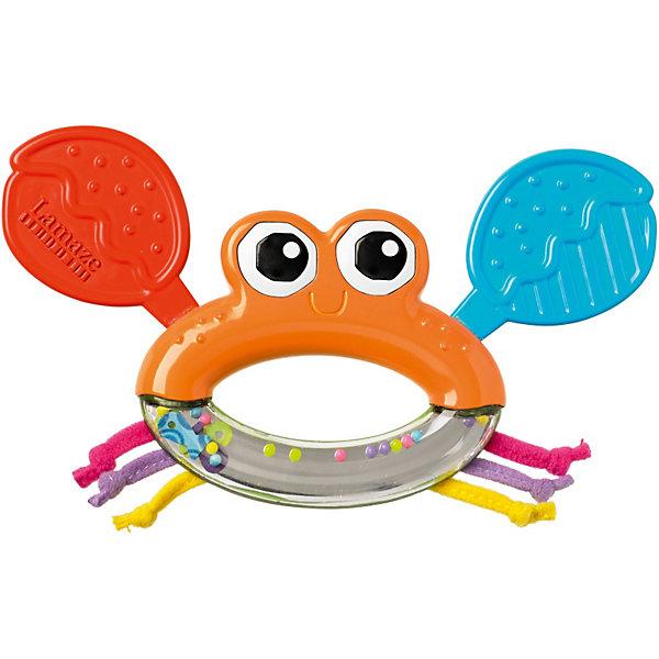 Игрушка Крабик Клик-Клак, LamazeИгрушки для новорожденных<br>Эта яркая игрушка для самых маленьких обязательно понравится вашему крохе. Прорезыватель для зубов  поможет успокоить вашего малыша, а погремушка развлечет и порадует его. Выполнена высококачественных материалов разной фактуры, абсолютно безопасна для малышей. Развивает осязательные, зрительные и двигательные способности вашего ребенка. <br><br>Дополнительная информация:<br><br>- Материал: пластик, текстиль.<br>- Размер: 19 х 17 х 19 см.<br>- Цвет: разноцветный.<br>- Погремушка и прорезыватель.<br><br>Игрушку Крабик Клик-Клак, Lamaze можно купить в нашем магазине.<br>Ширина мм: 185; Глубина мм: 172; Высота мм: 30; Вес г: 73; Возраст от месяцев: 3; Возраст до месяцев: 10; Пол: Унисекс; Возраст: Детский; SKU: 3592714;
